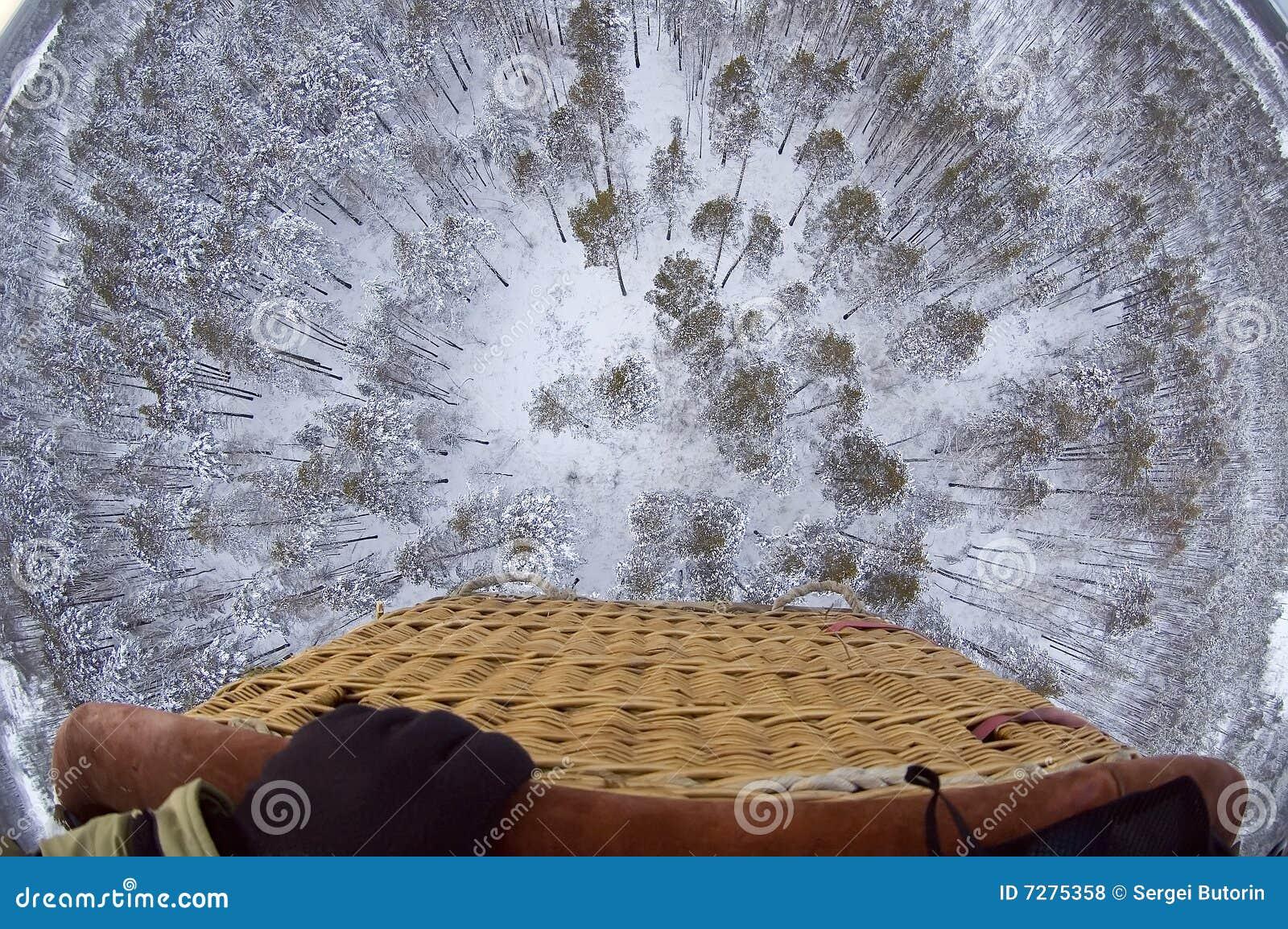 En la cesta del globo