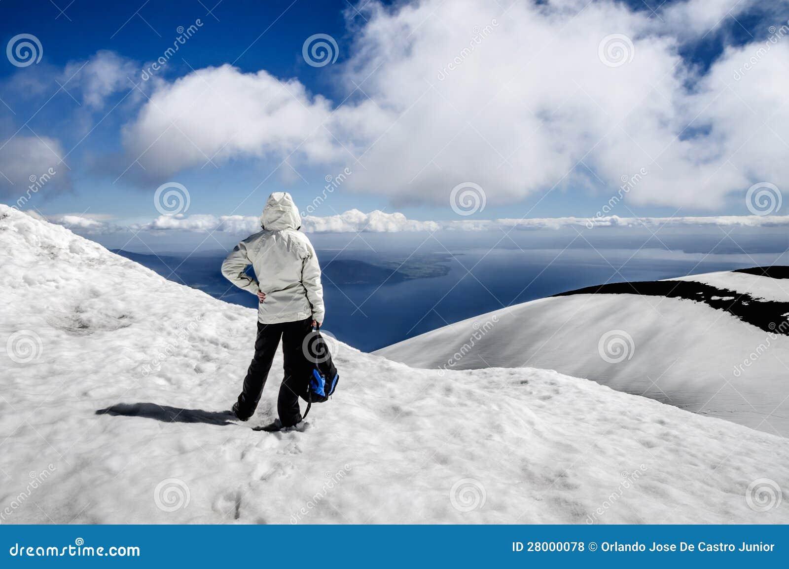 En la cima del volcán Osorno
