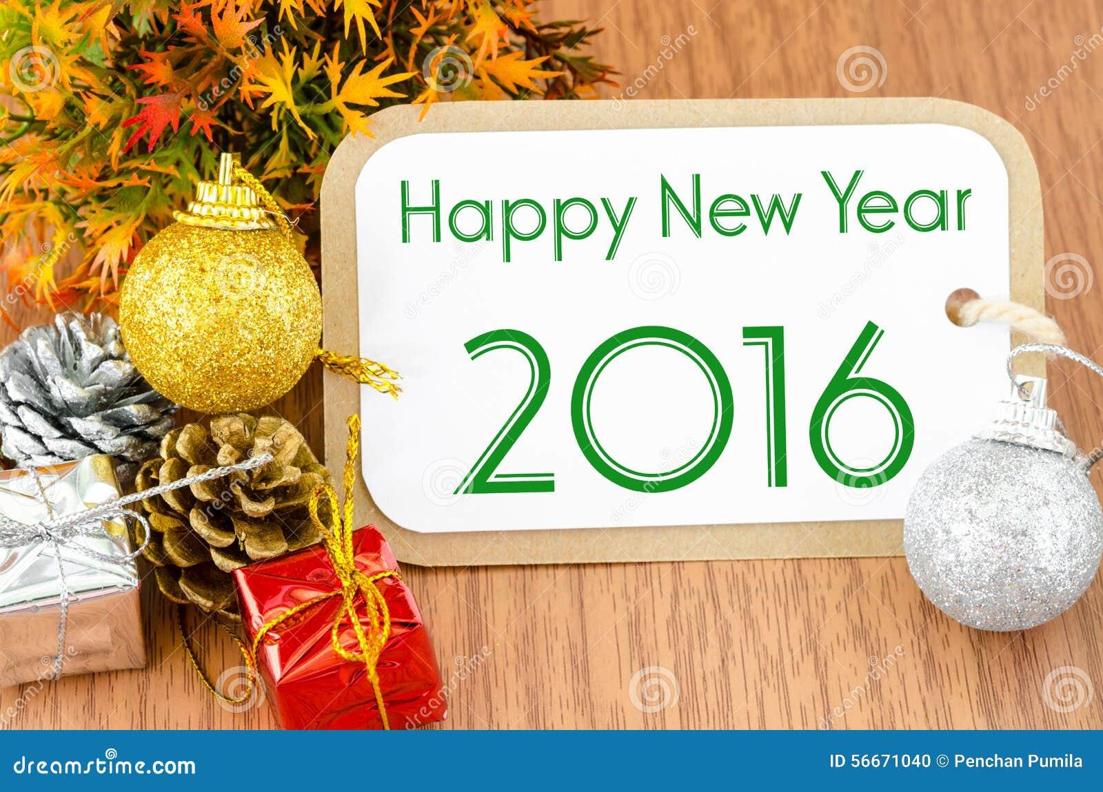 New year 2016 stock photo image 58693644 - 2016 En La Decoraci N Marr N Del A O Nuevo Del Papel De La Etiqueta Foto De Archivo