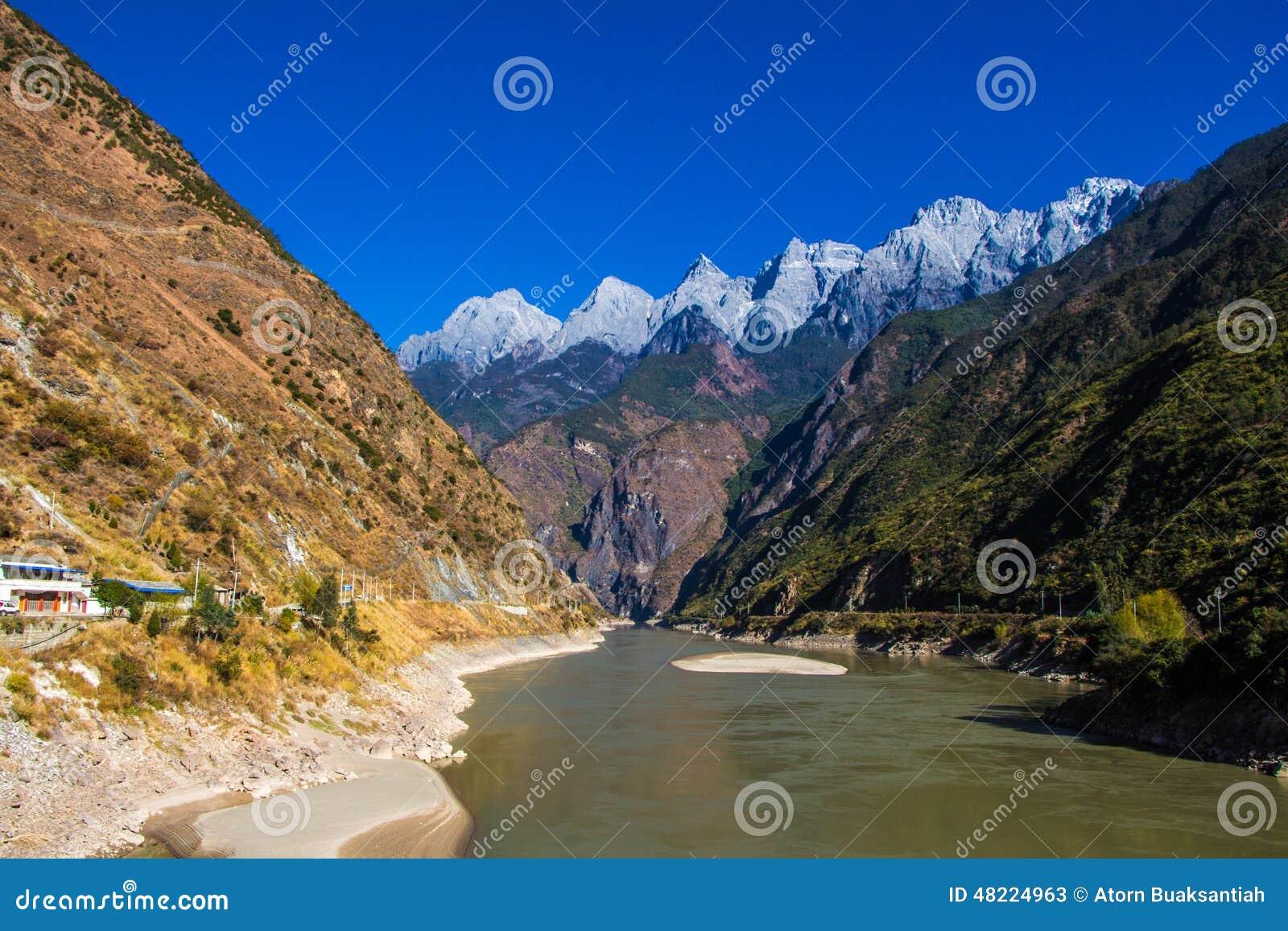 En la manera del lijiang al soporte de Shangri-La