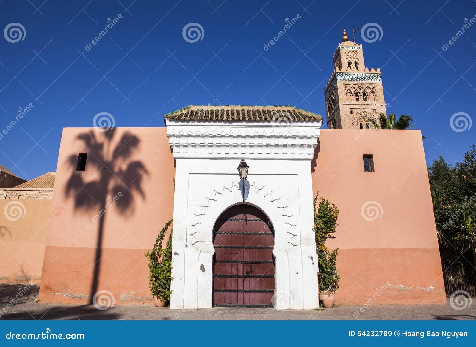 En moské i Marrakech, Marocko