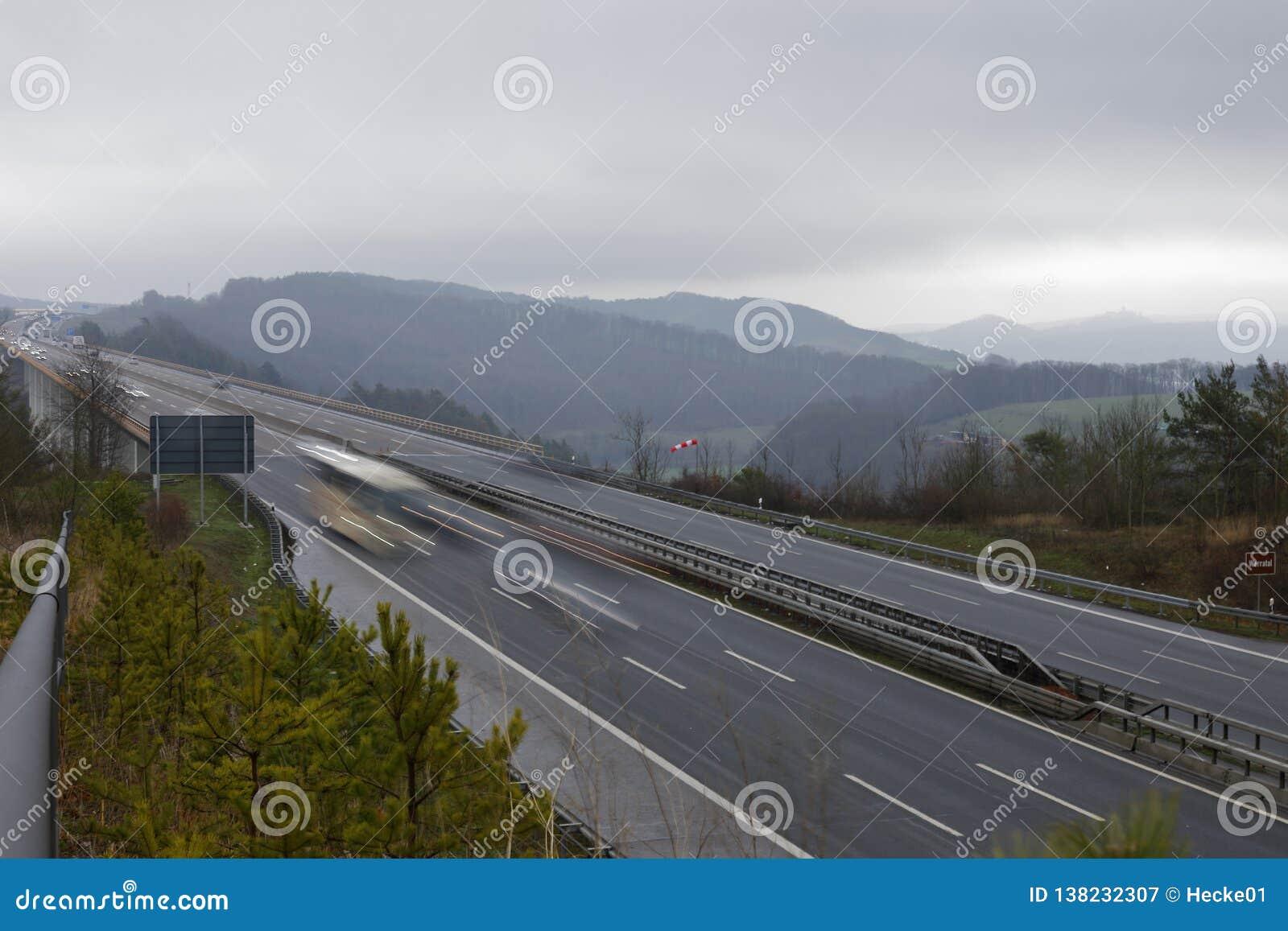 En Motorway i Tyskland
