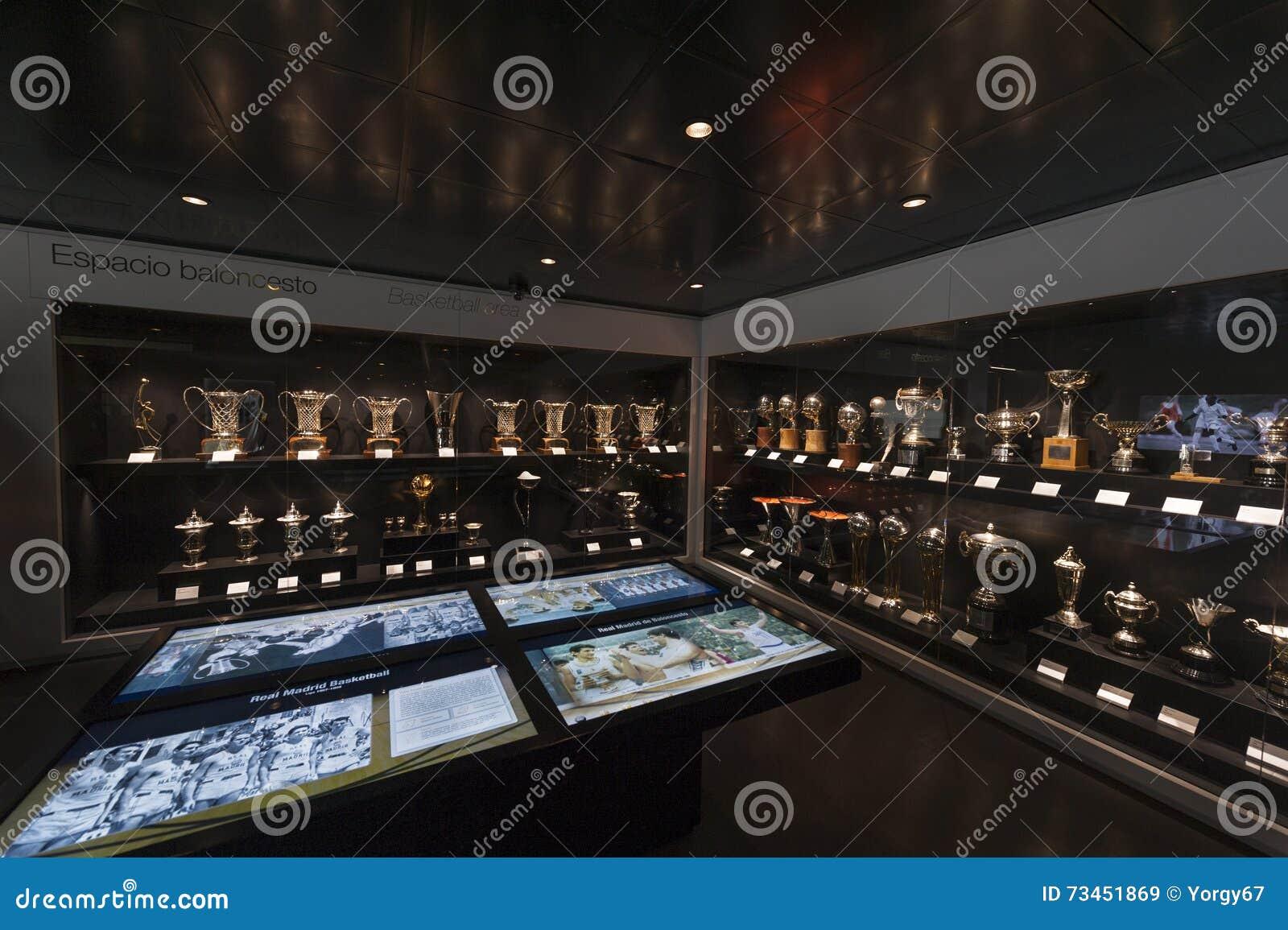 Museo Real Madrid.En Museo Del Real Madrid Imagen De Archivo Editorial Imagen De