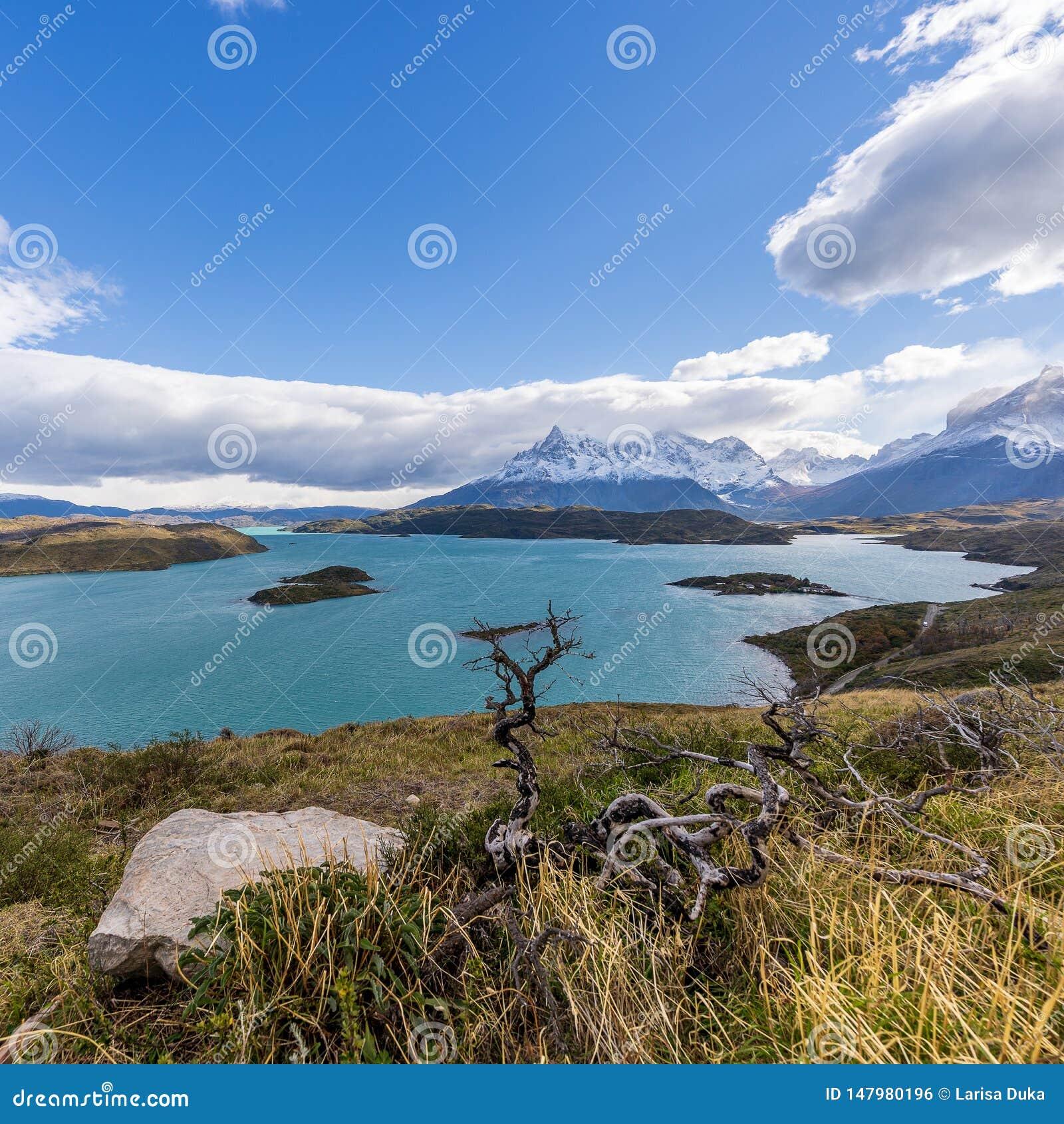 En parc national de Torres del Paine, Patagonia, Chili, Lago del Pehoe