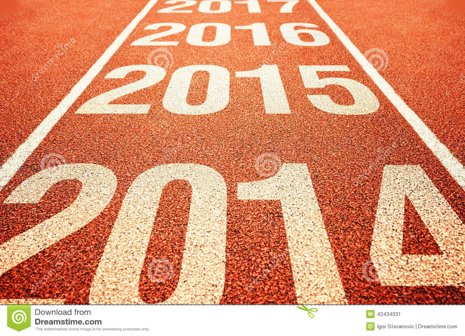 2015 en pista corriente para todo clima del atletismo