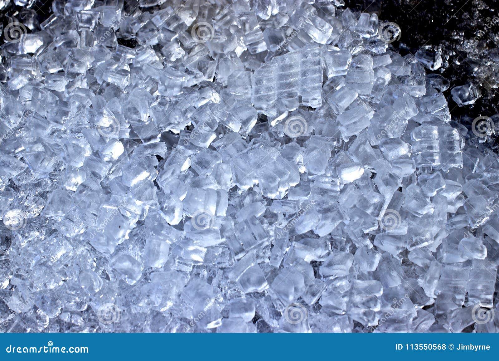 En säng av iskuber