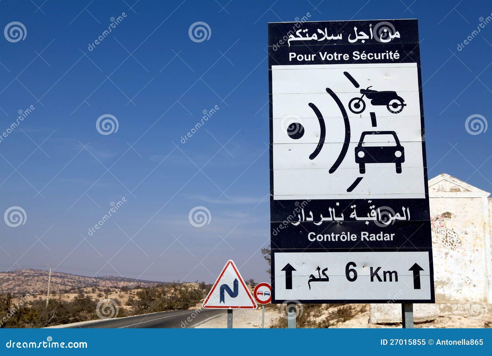 En signalering för trafik för radarhastighetstryckspruta