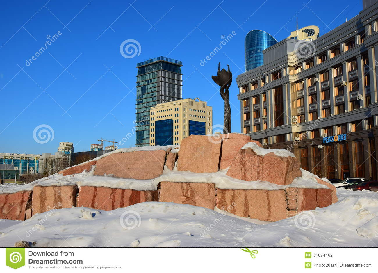 En sikt i Astana/Kasakhstan