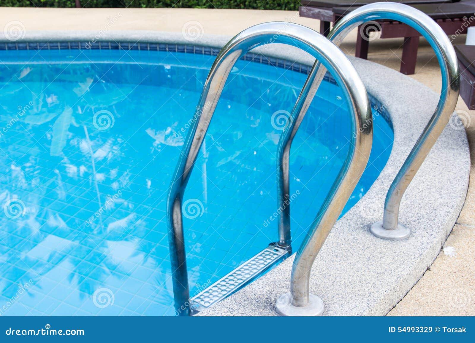 En simbassäng för siktsfrikändblått