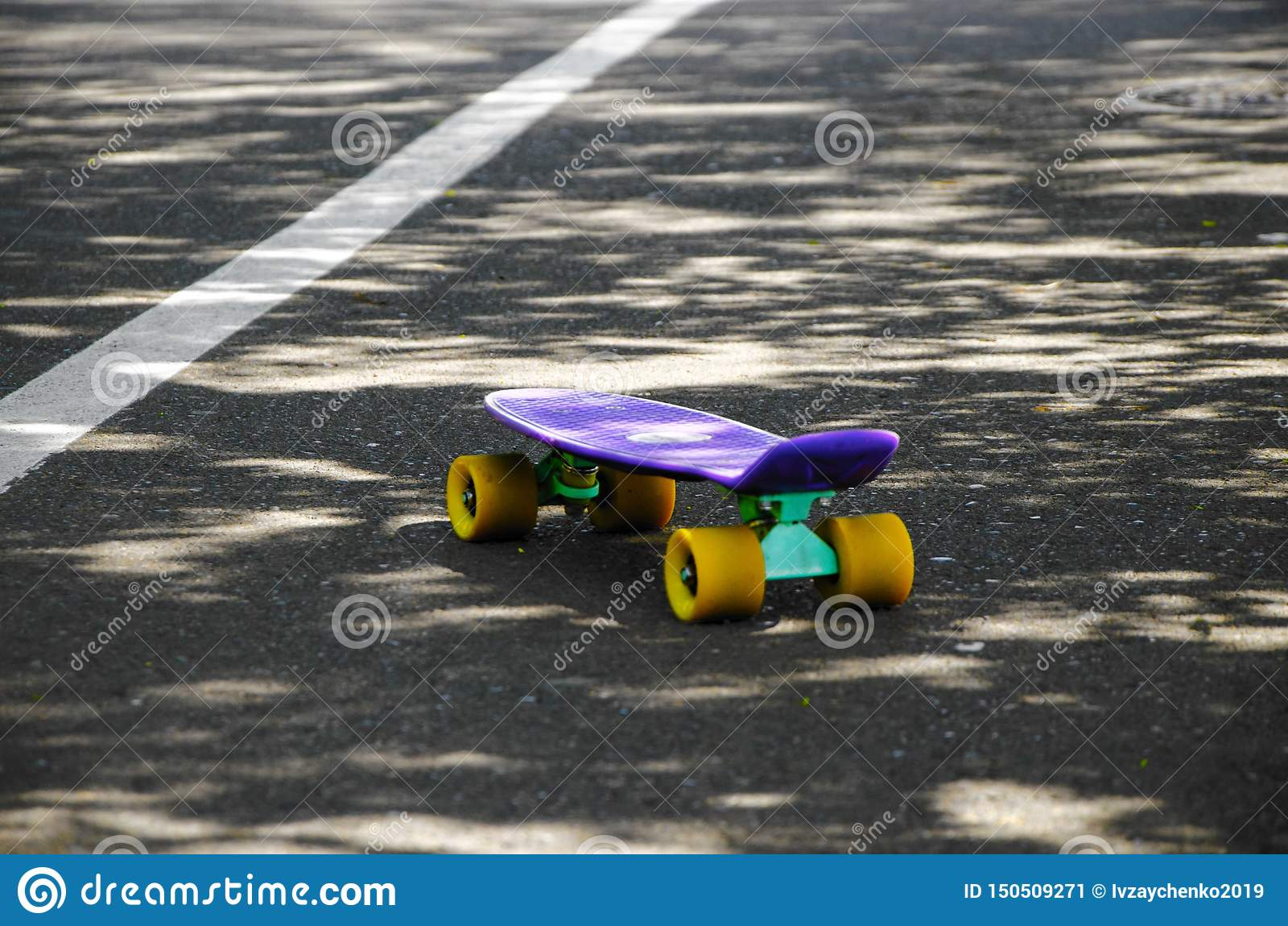 En skateboard p? v?gen