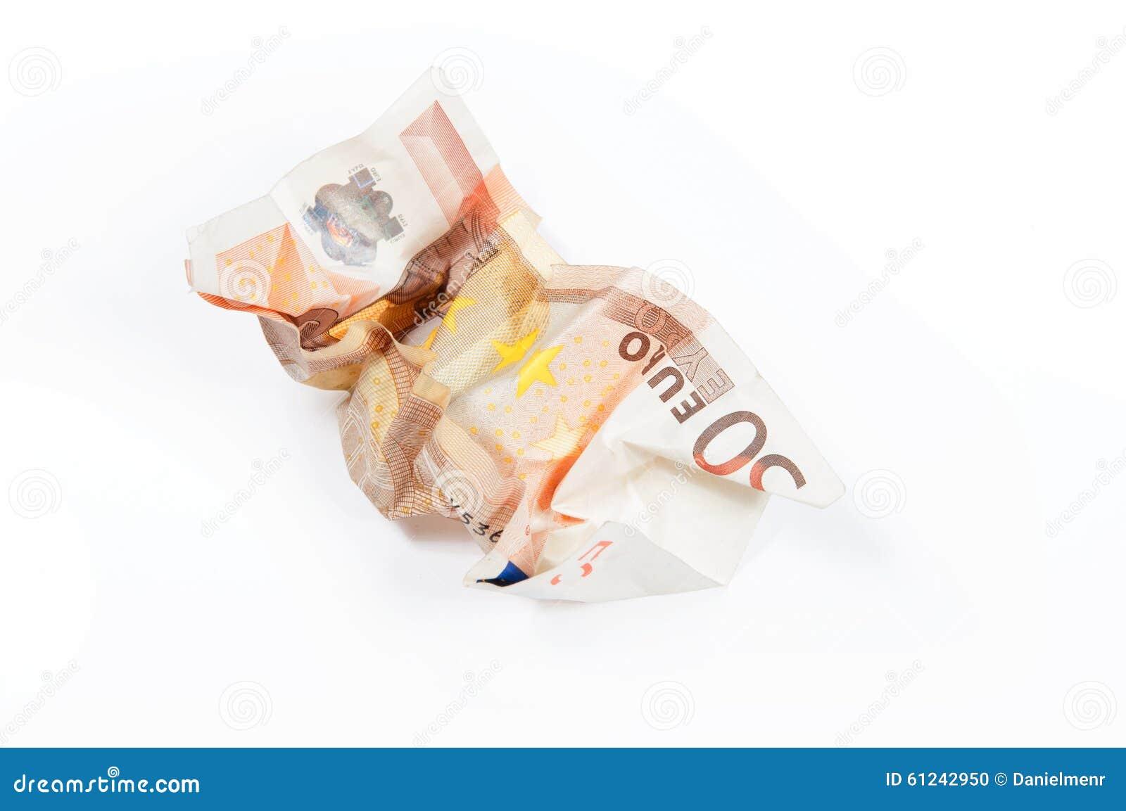 En skrynklig räkning för euro 50