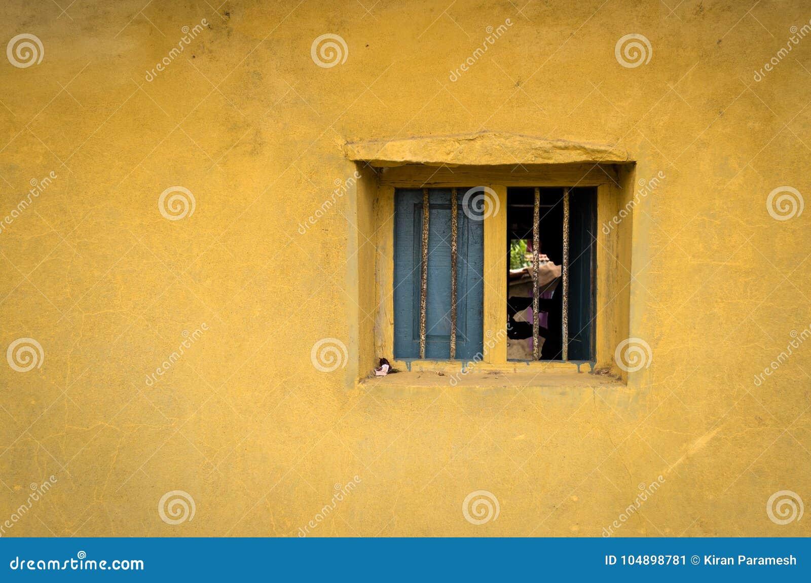 En skugga till och med fönstret