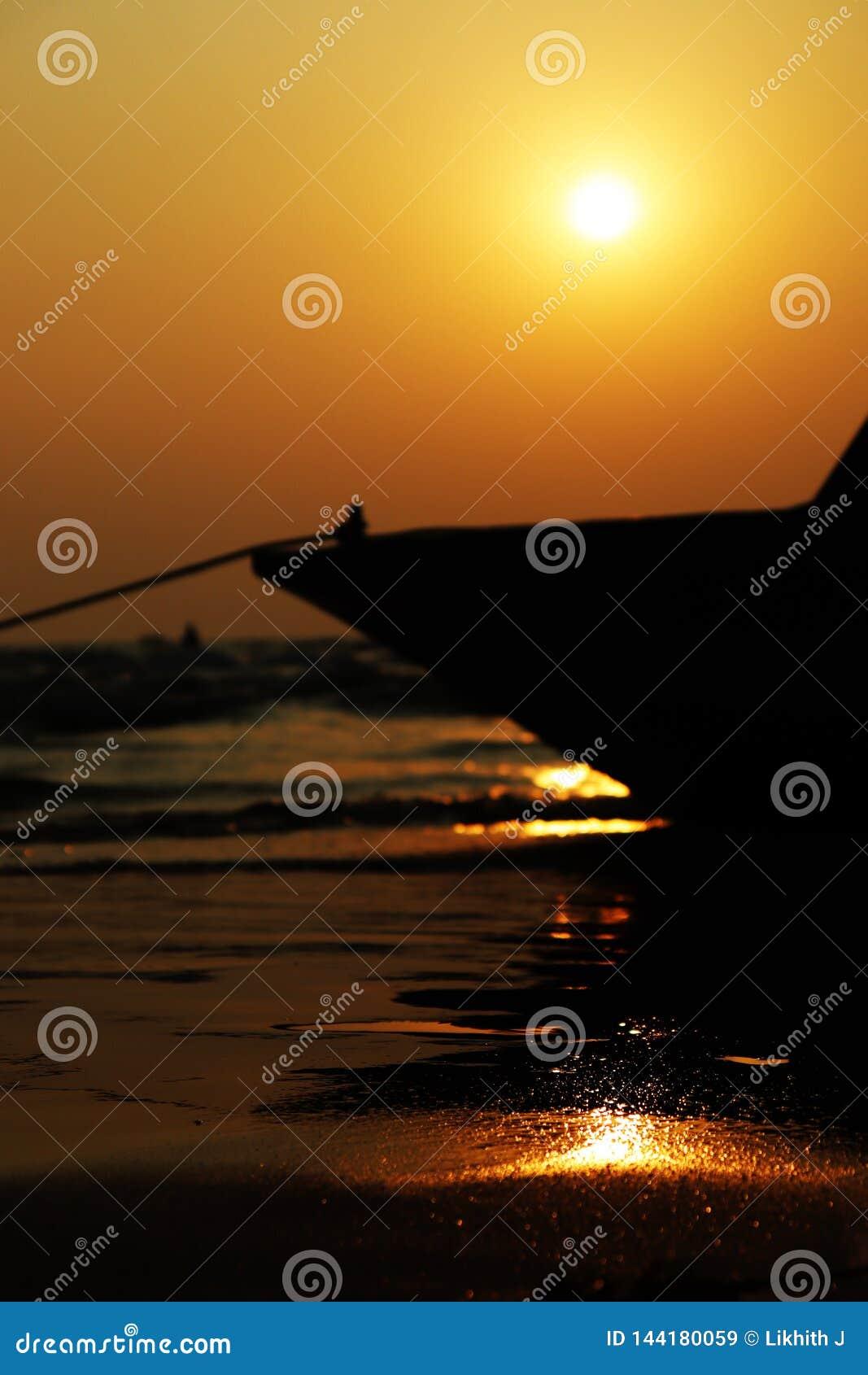 En solnedgång från den Baga stranden