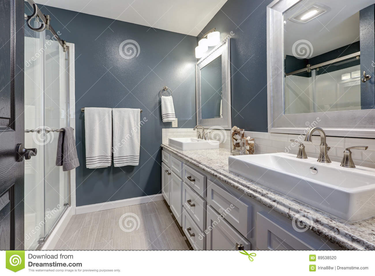 En Suite Bathroom With Perfect Design Stock Photo Image Of Cabinets Project 89538520