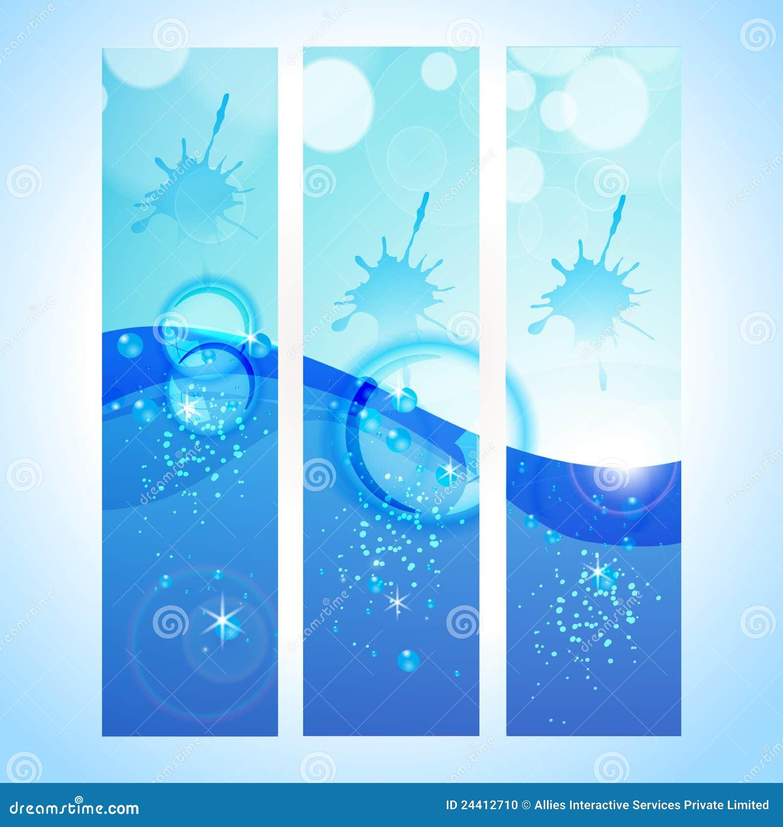En-tête abstrait de fond avec l onde d eau