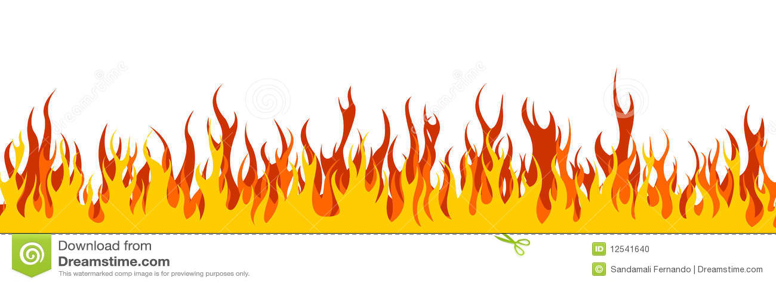 En-tête/drapeau de Web d incendie