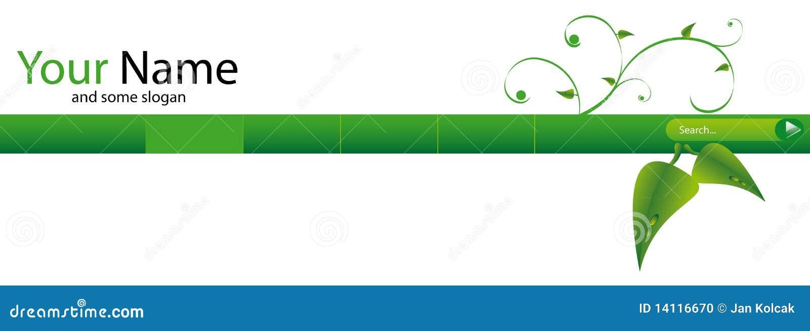 En-tête vert de Web