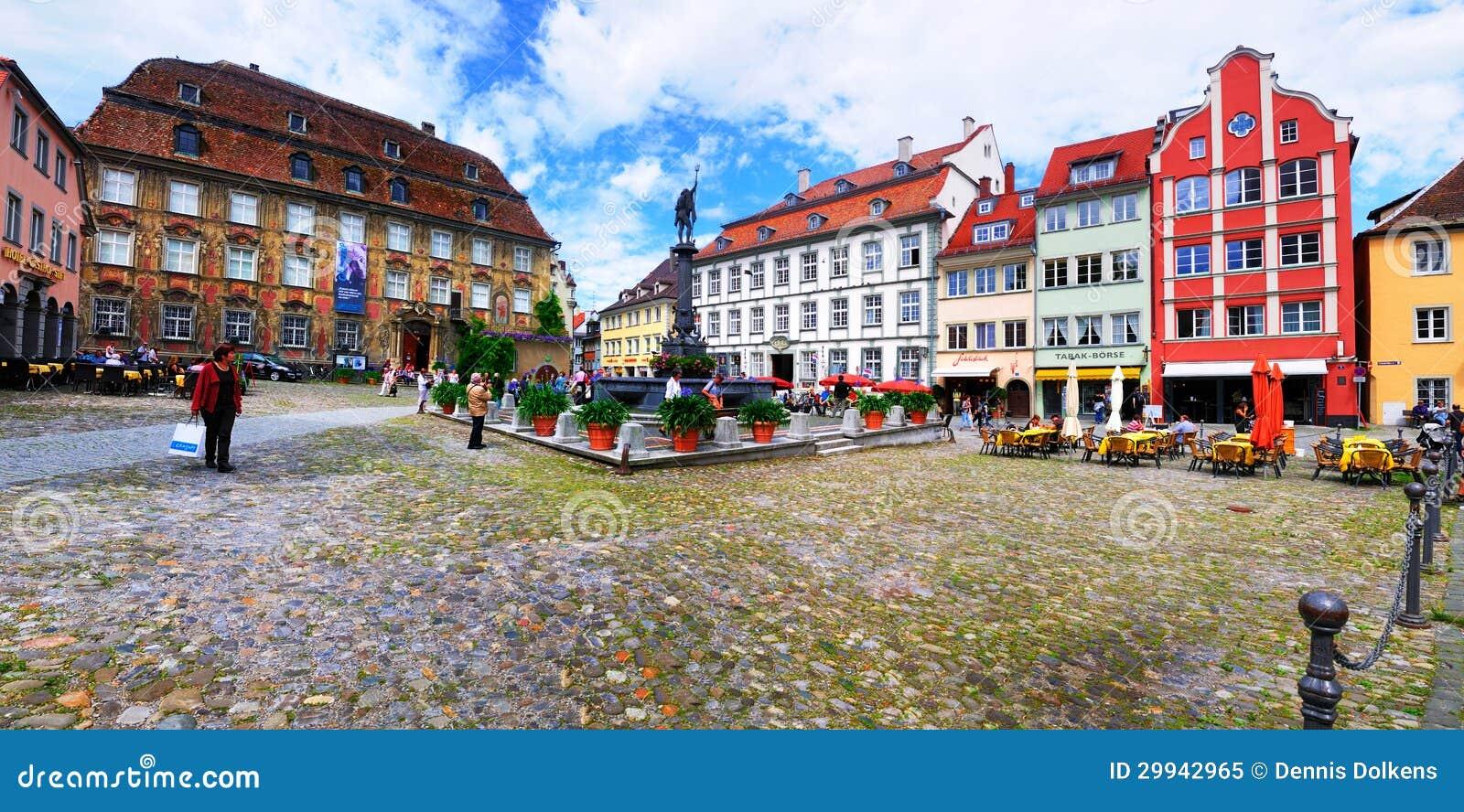 Townen kvadrerar, den Lindau Tysklandet