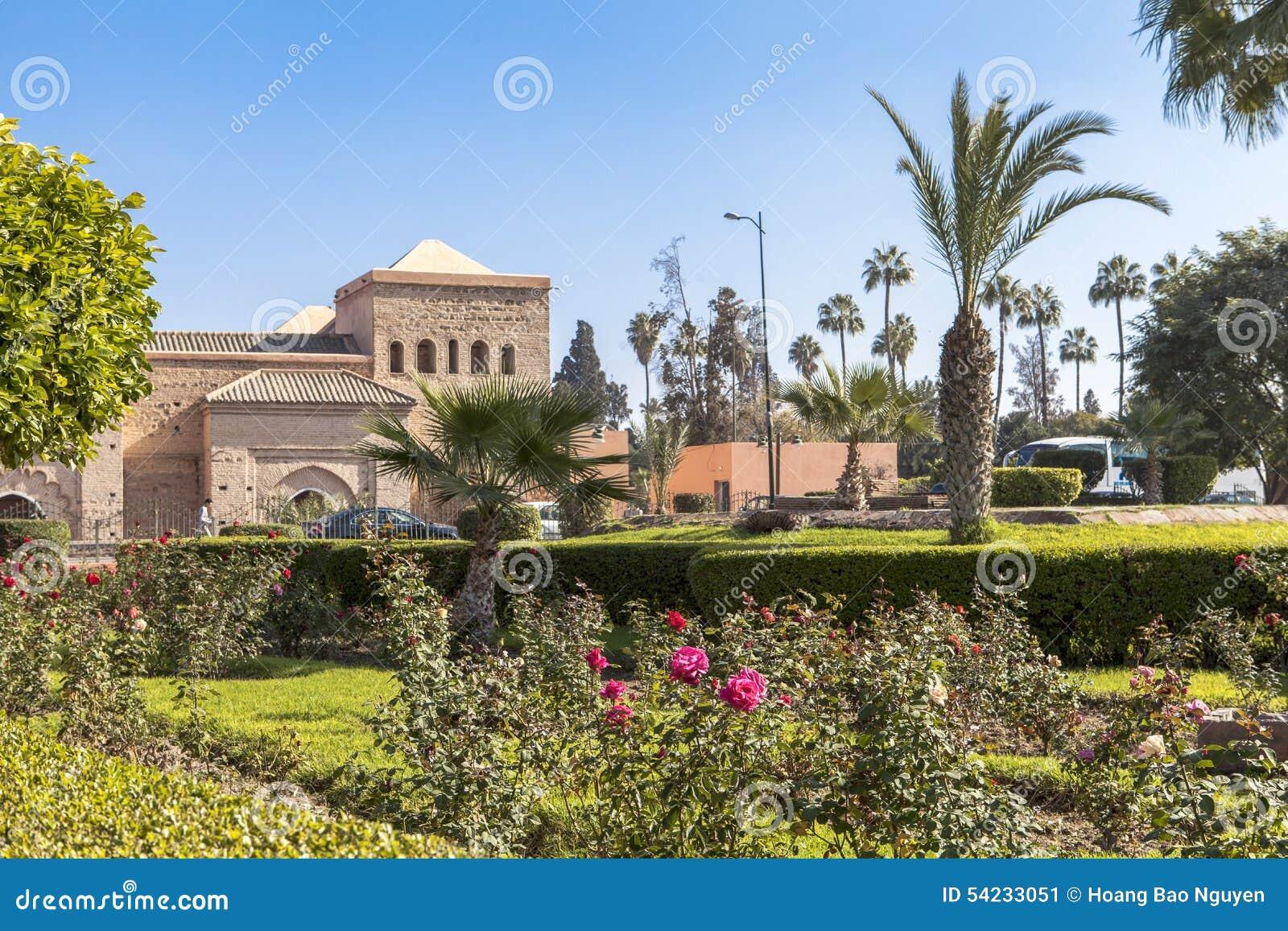 En trädgård i Marrakech, Marocko