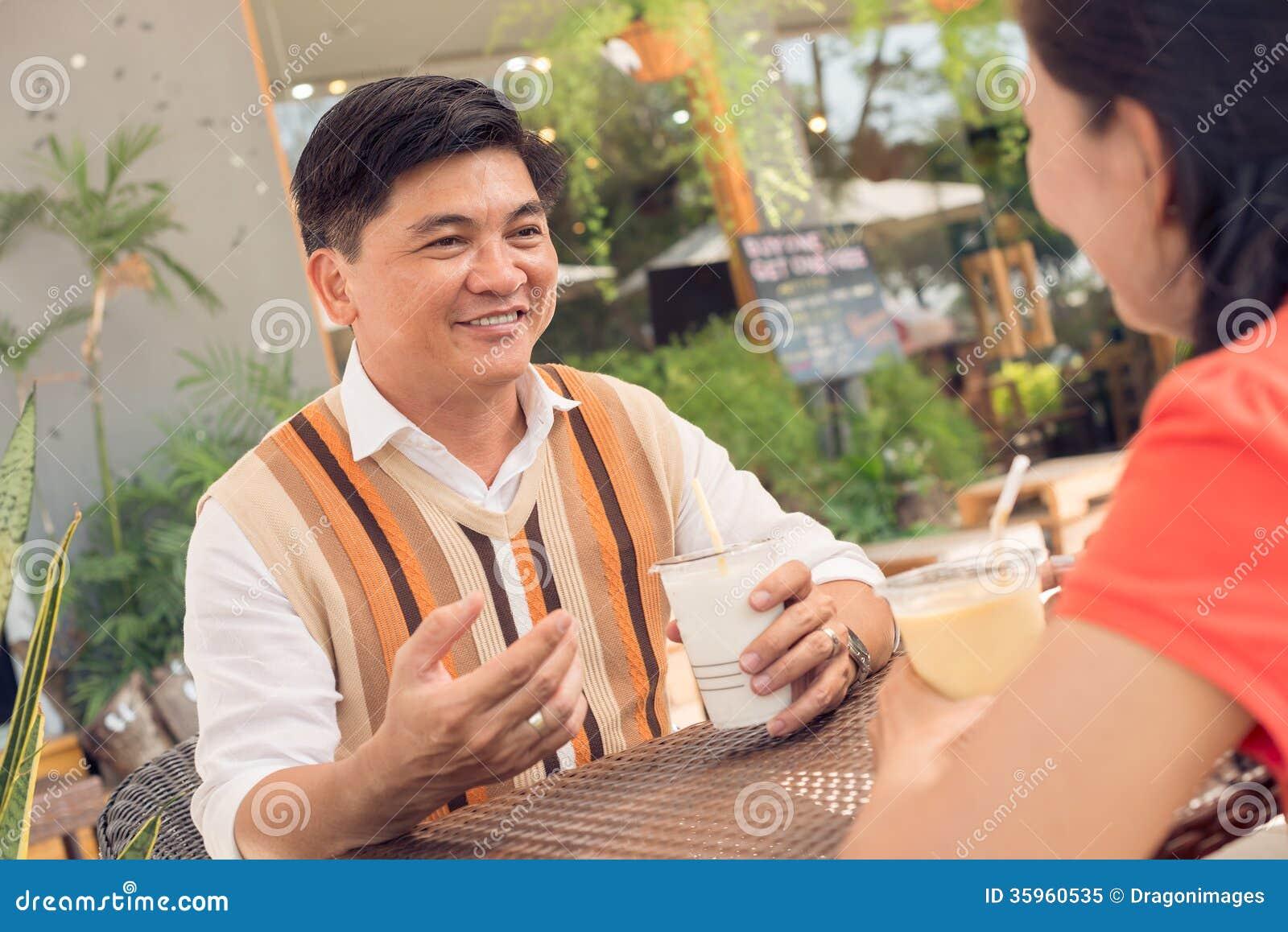 En un café