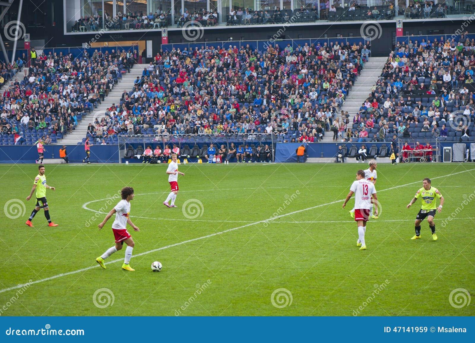 En un partido de fútbol