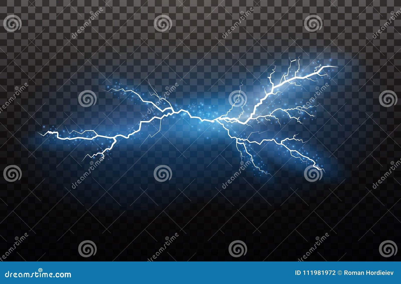 En uppsättning av blixtmagi och ljusa ljusa effekter också vektor för coreldrawillustration Elektrisk ström för urladdning Laddni