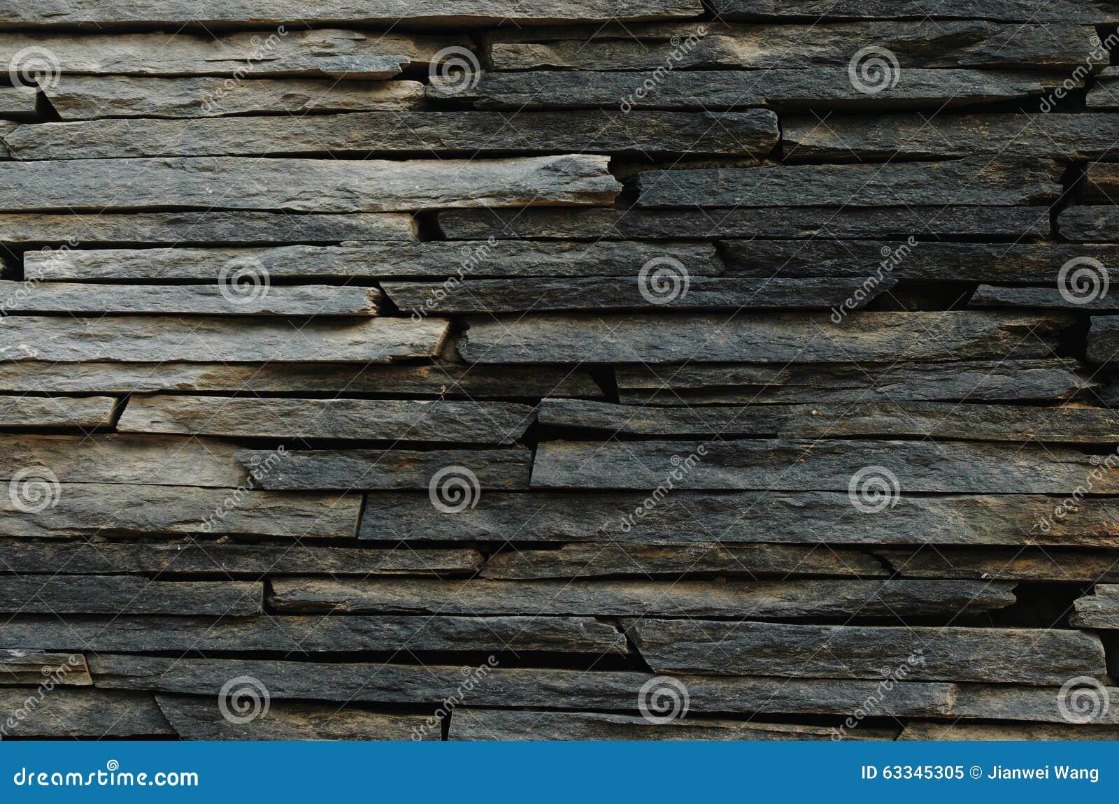 En vägg av stenen