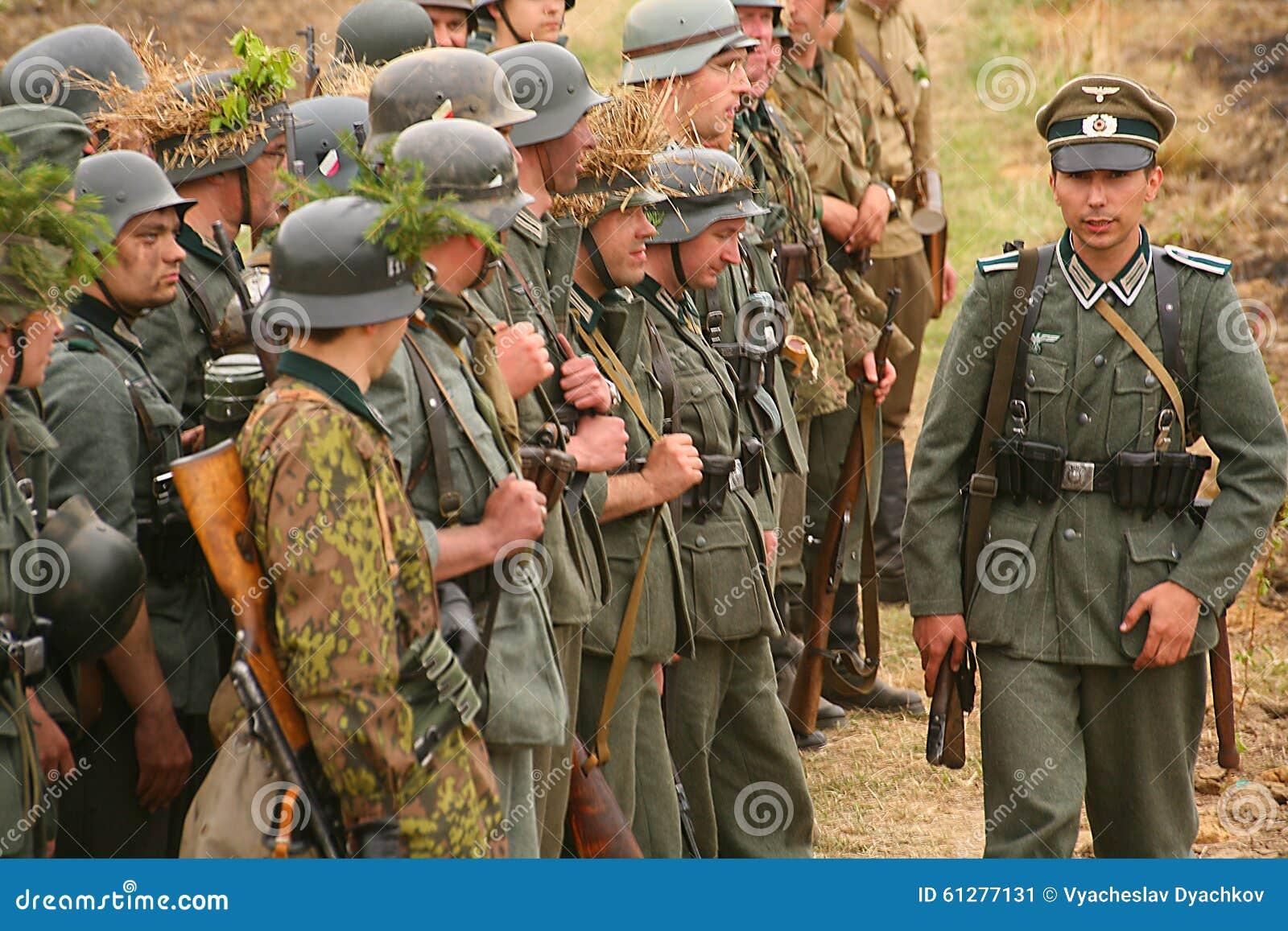 abbastanza Enactors Ri- Militari In Tedesco La Seconda Guerra Mondiale Dell  XQ52