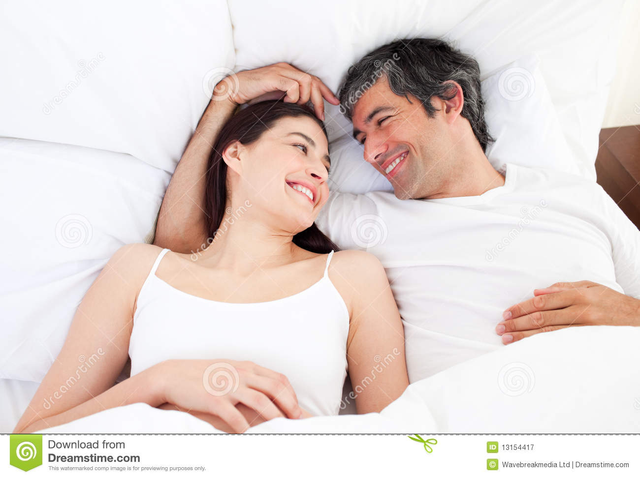 ... Lying In Their Bed Royalty Free Stock Photography - Image: 13154417