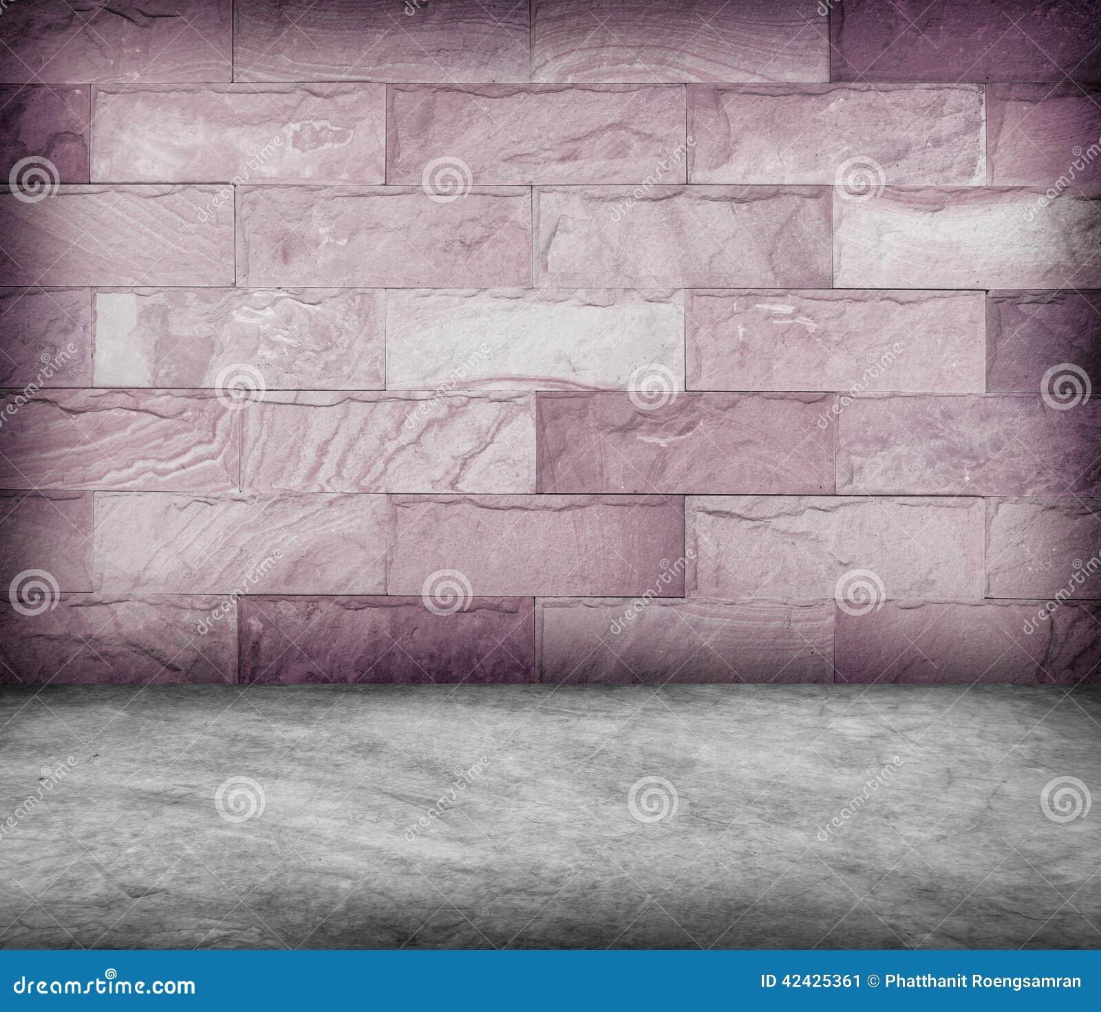 Enarene la pared de piedra y la textura concreta del piso, diseño del Grunge