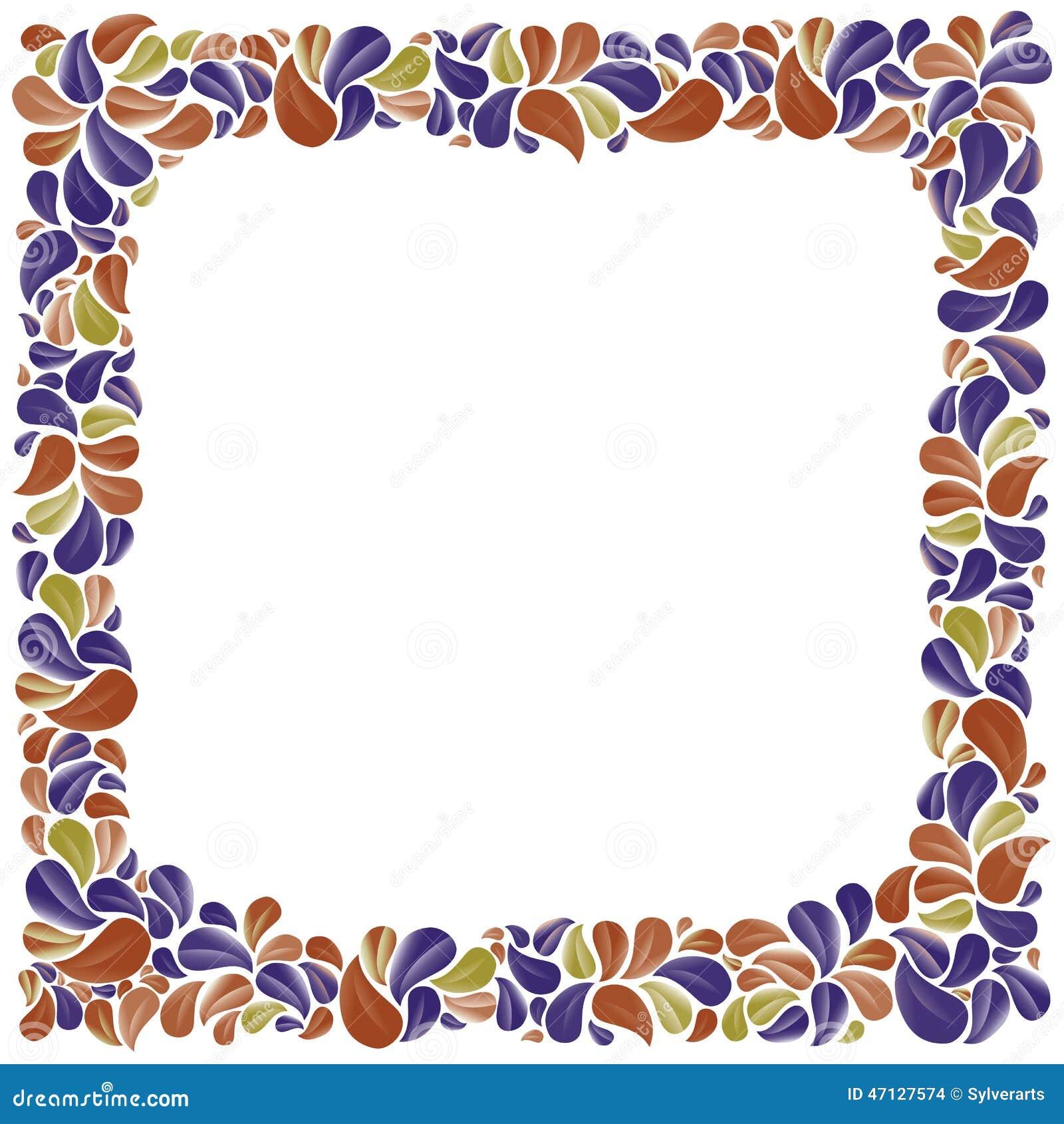 encadrement d coratif naturel color avec des feuilles mieux pour le greeti illustration de. Black Bedroom Furniture Sets. Home Design Ideas
