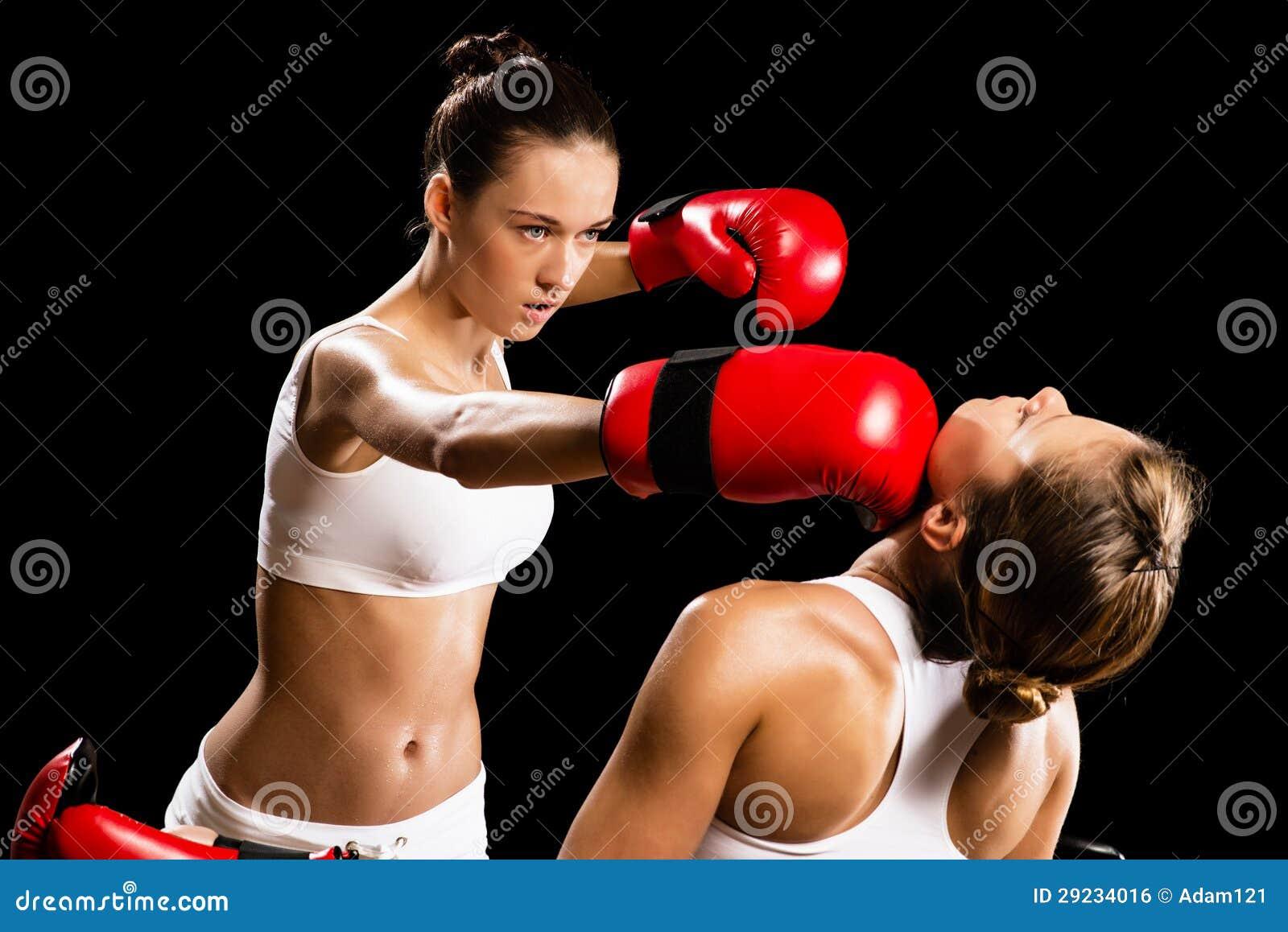 Download Encaixotamento da mulher foto de stock. Imagem de aggressive - 29234016