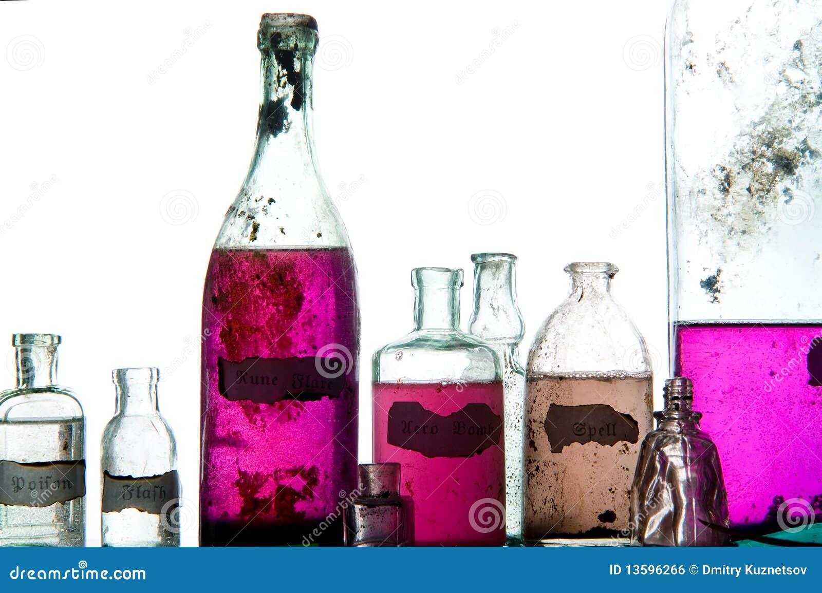Encantos mágicos en botellas antiguas