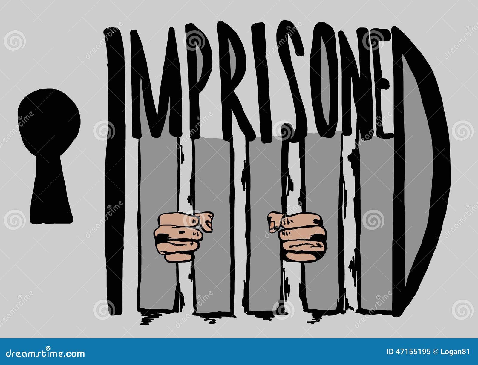 Encarcelado Ilustraciones Stock, Vectores, Y Clipart