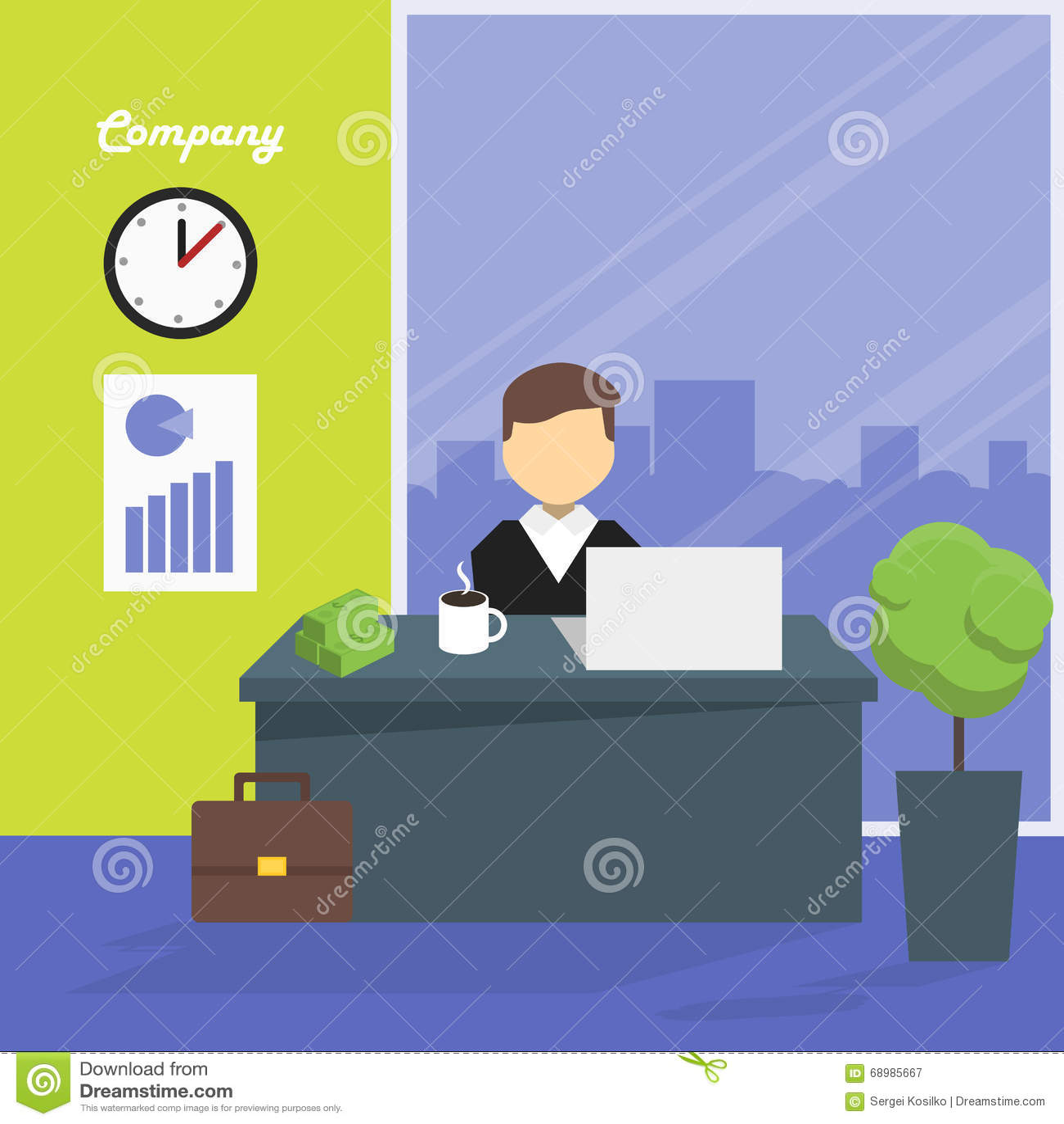Encargado del lugar de trabajo, ejemplo del vector