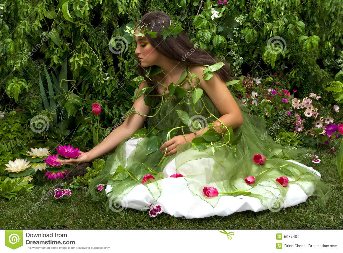 of her many beautiful creations in her enchanted garden.This indoor ...