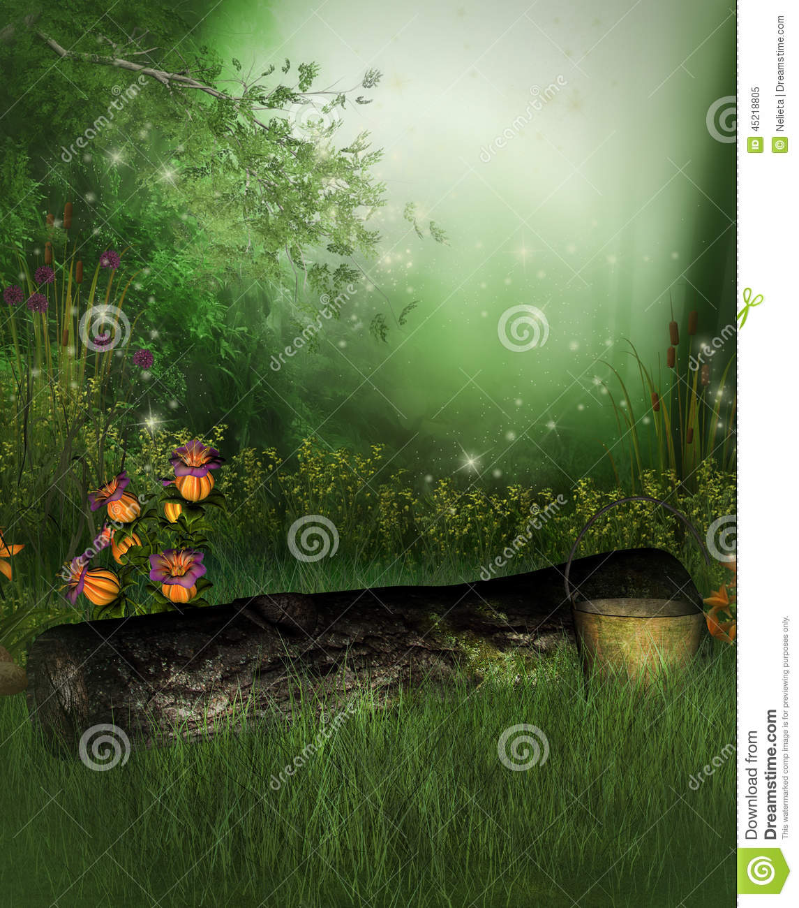 Enchanted Garden Stock Illustration. Image Of Fairytale