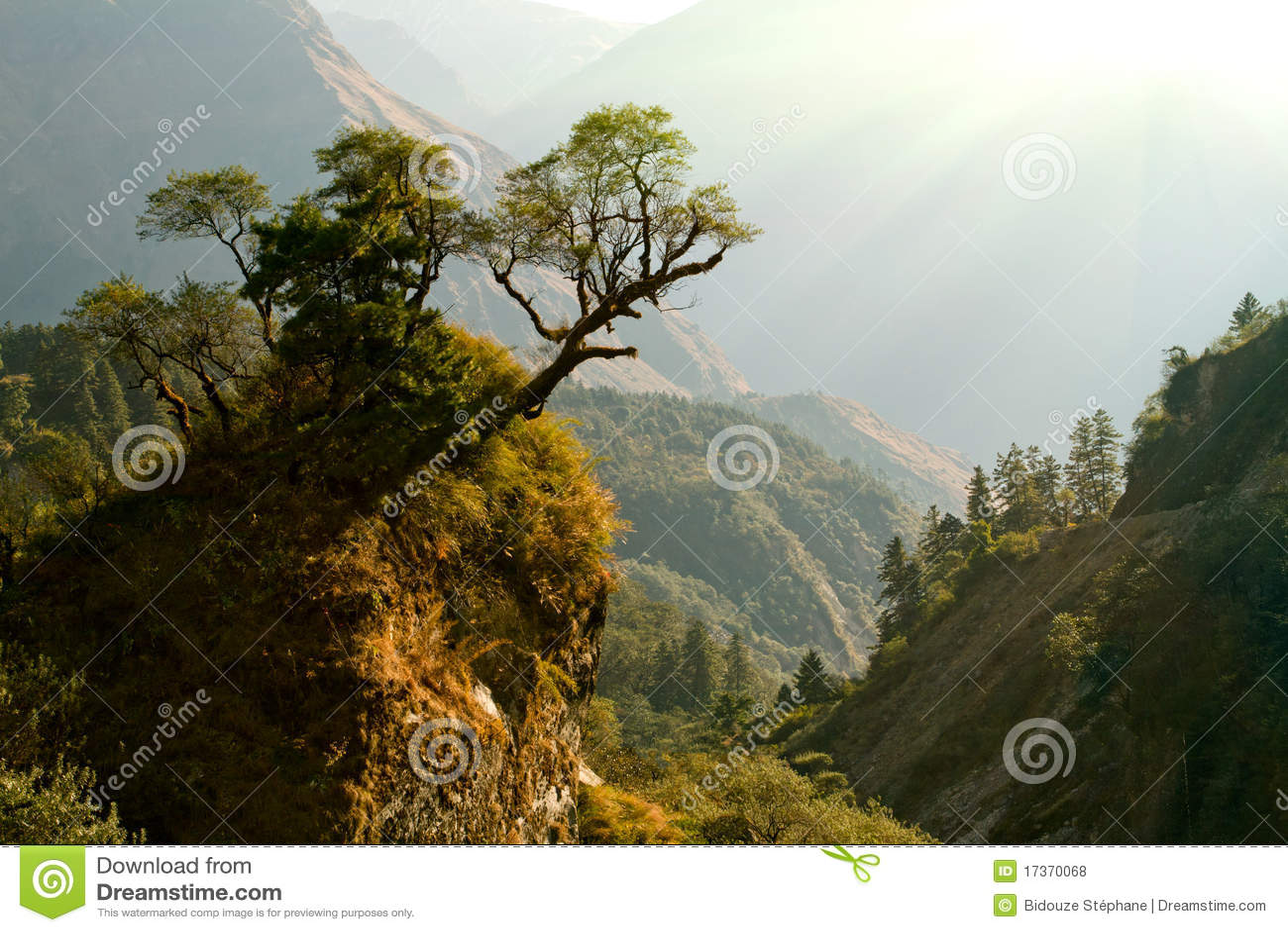 Enchanted Nepal landscape