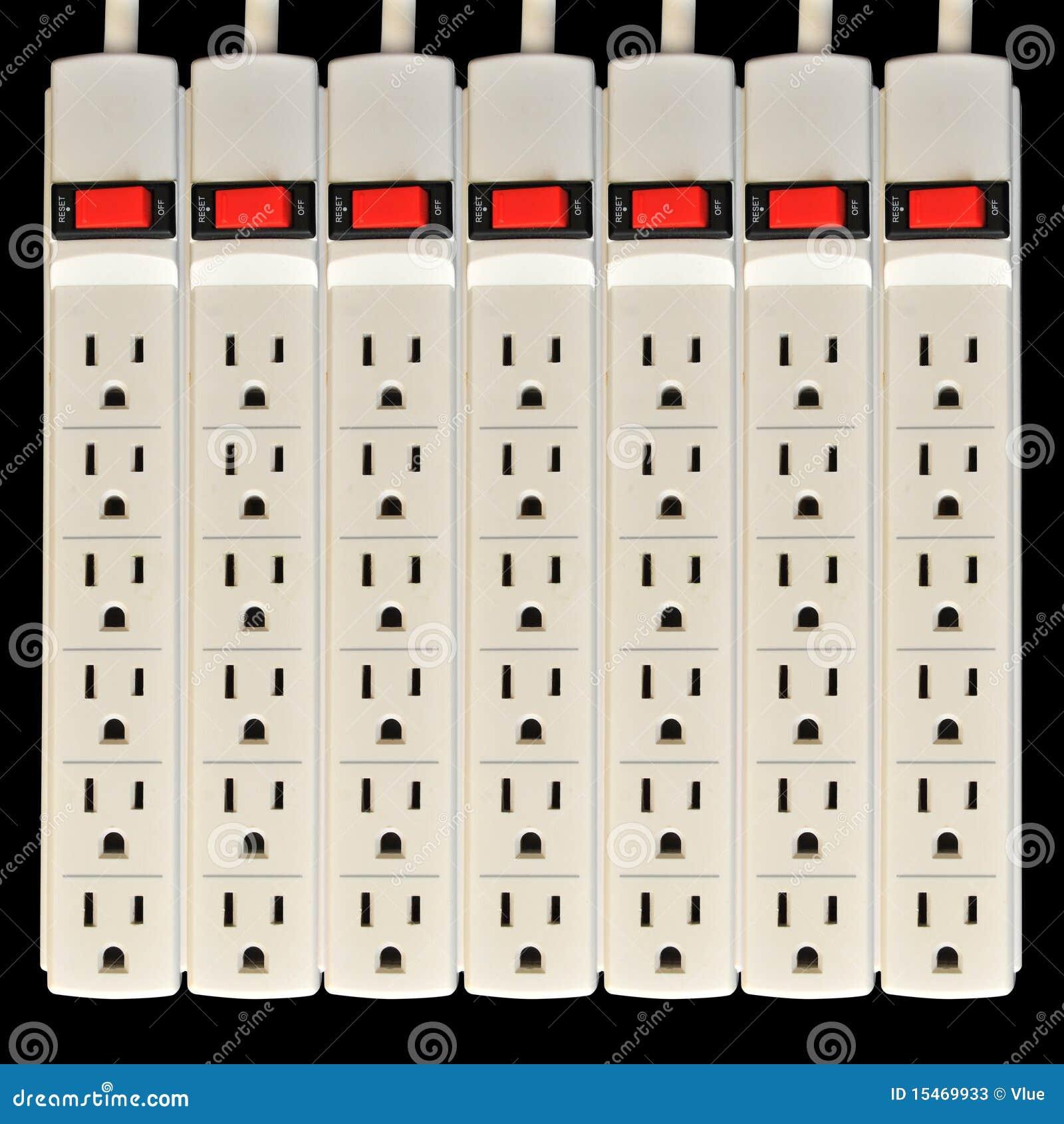 Enchufe eléctrico del protector de oleada