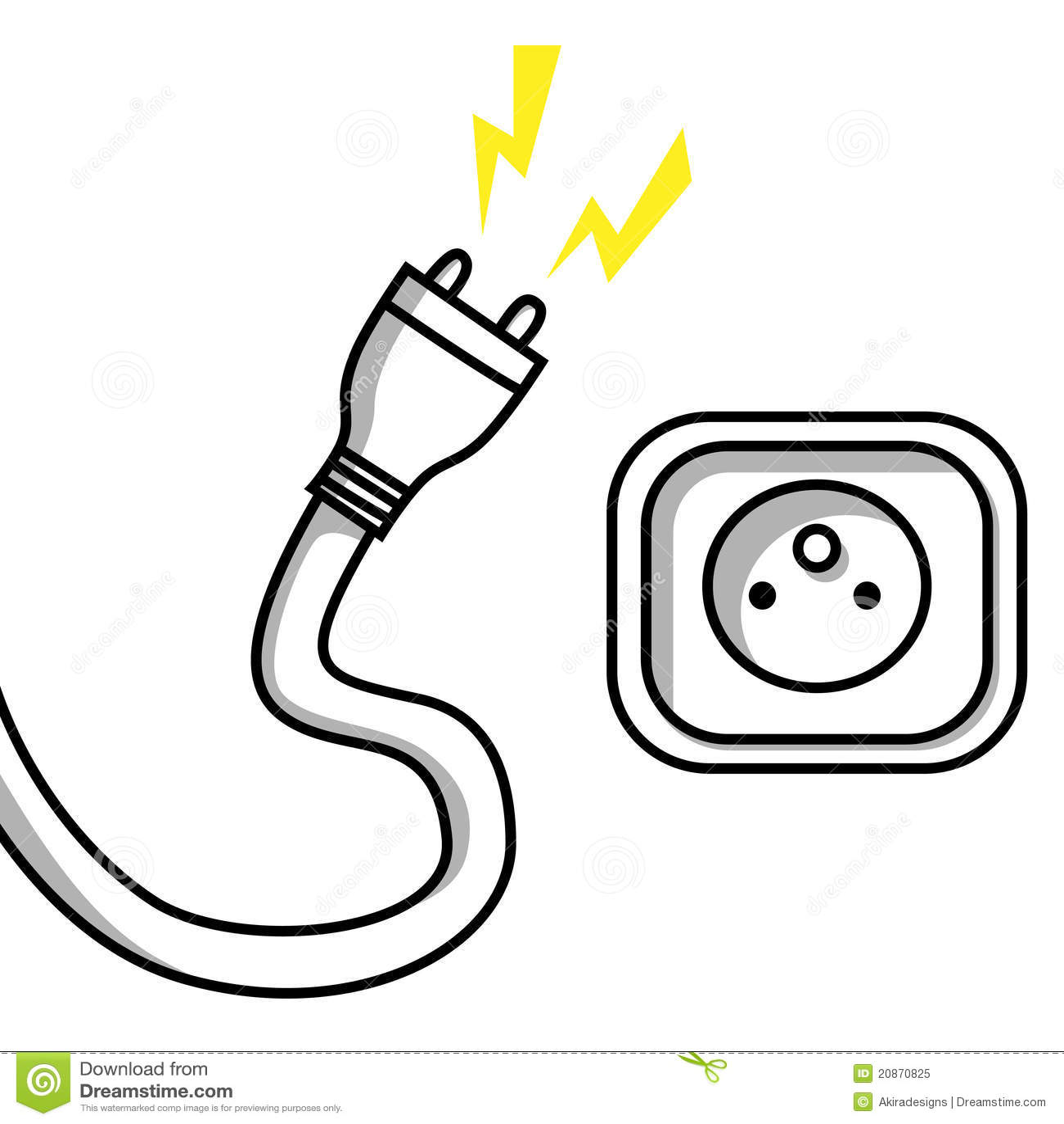 enchufe y socket ilustraci u00f3n del vector  ilustraci u00f3n de