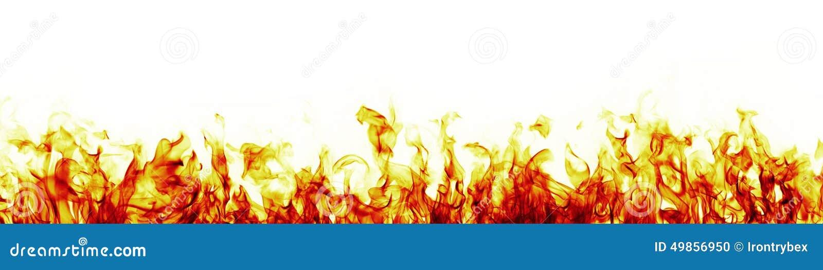 Encienda las llamas en la versión más roja blanca del fondo
