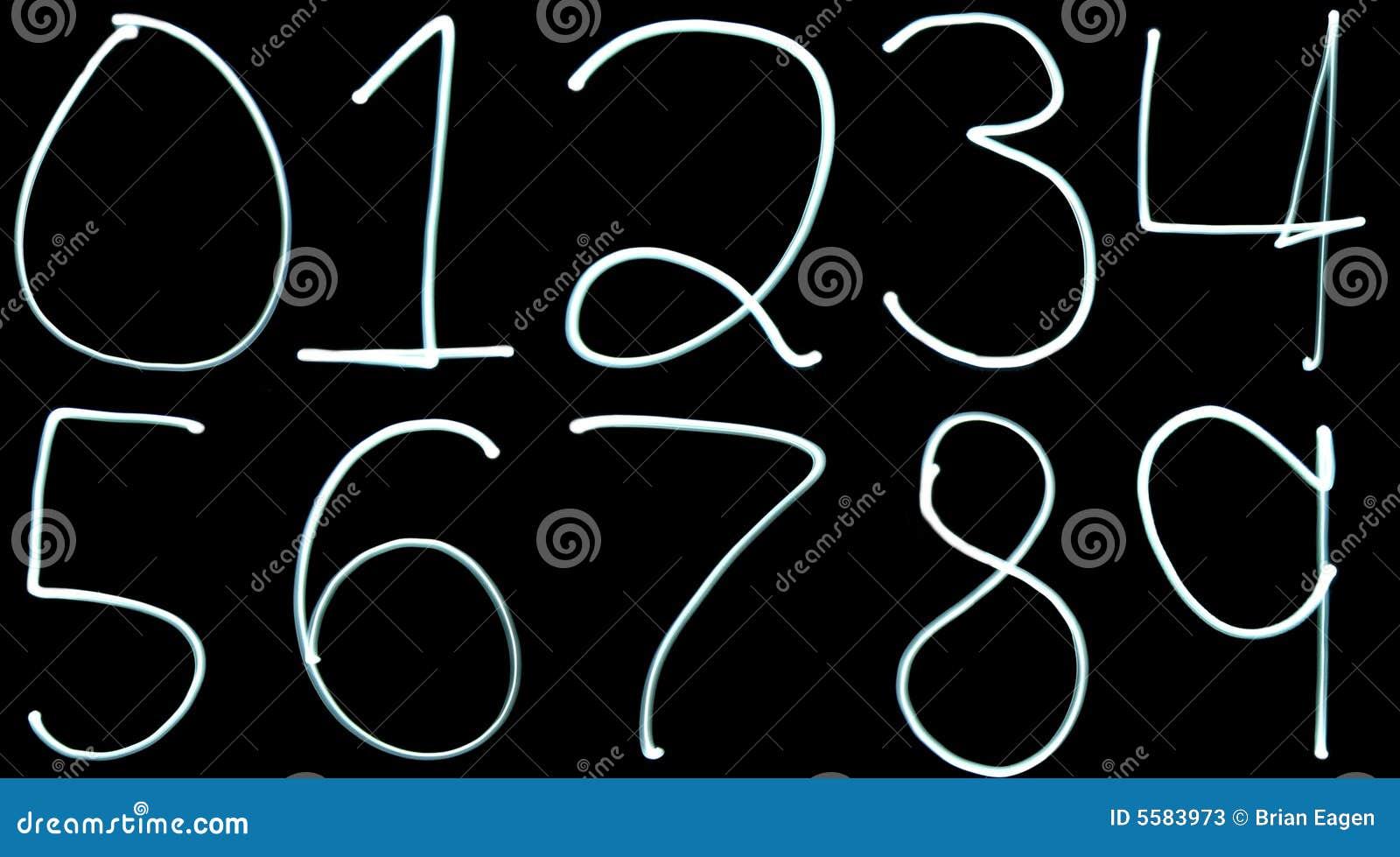 Encienda los números de la pintura