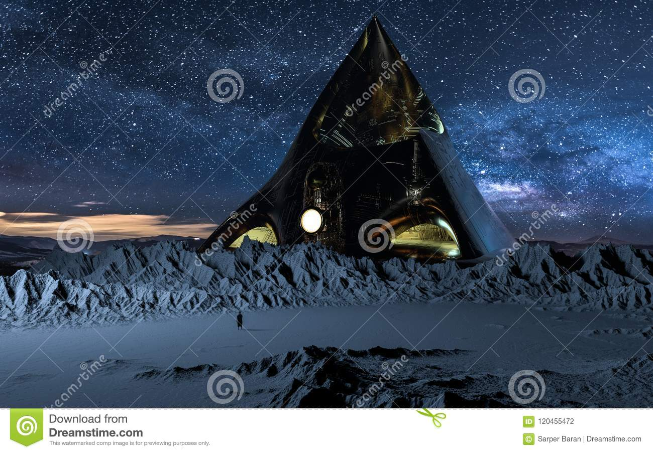 Copper Pyramid stock illustration  Illustration of human