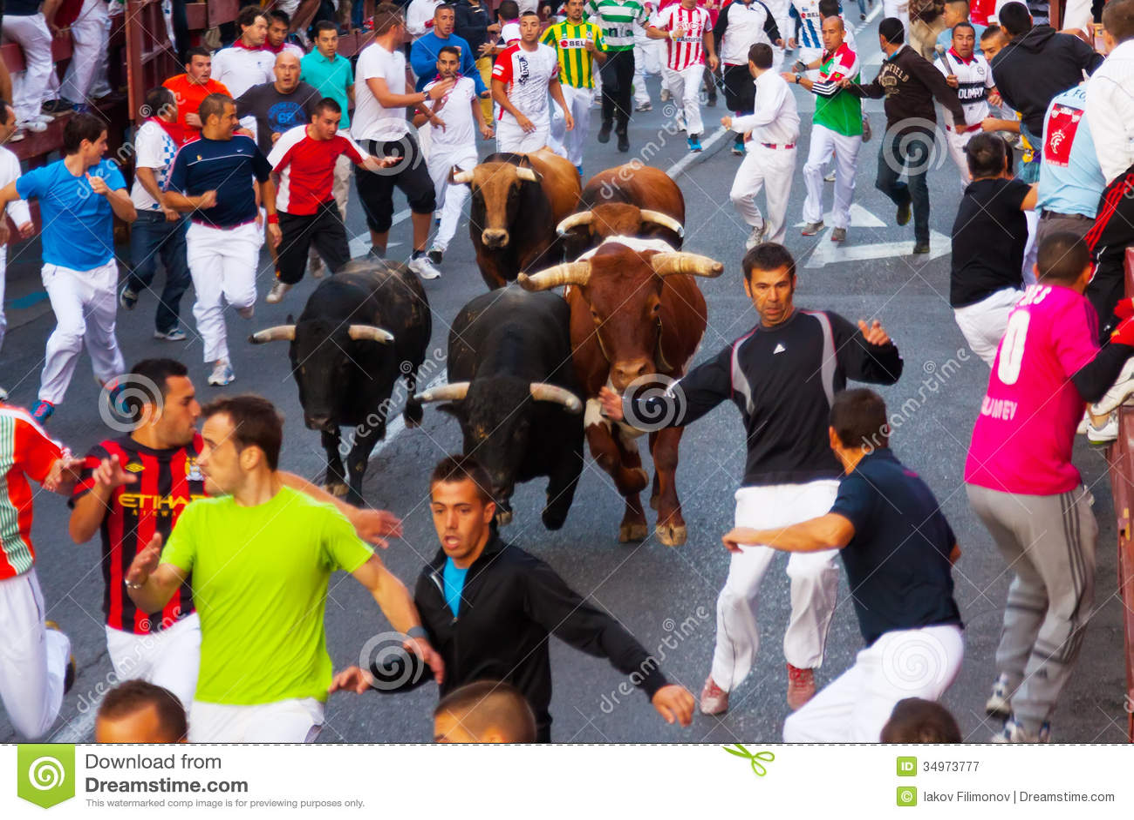 Encierro running of the bulls editorial photography - Schmidt san sebastian de los reyes ...