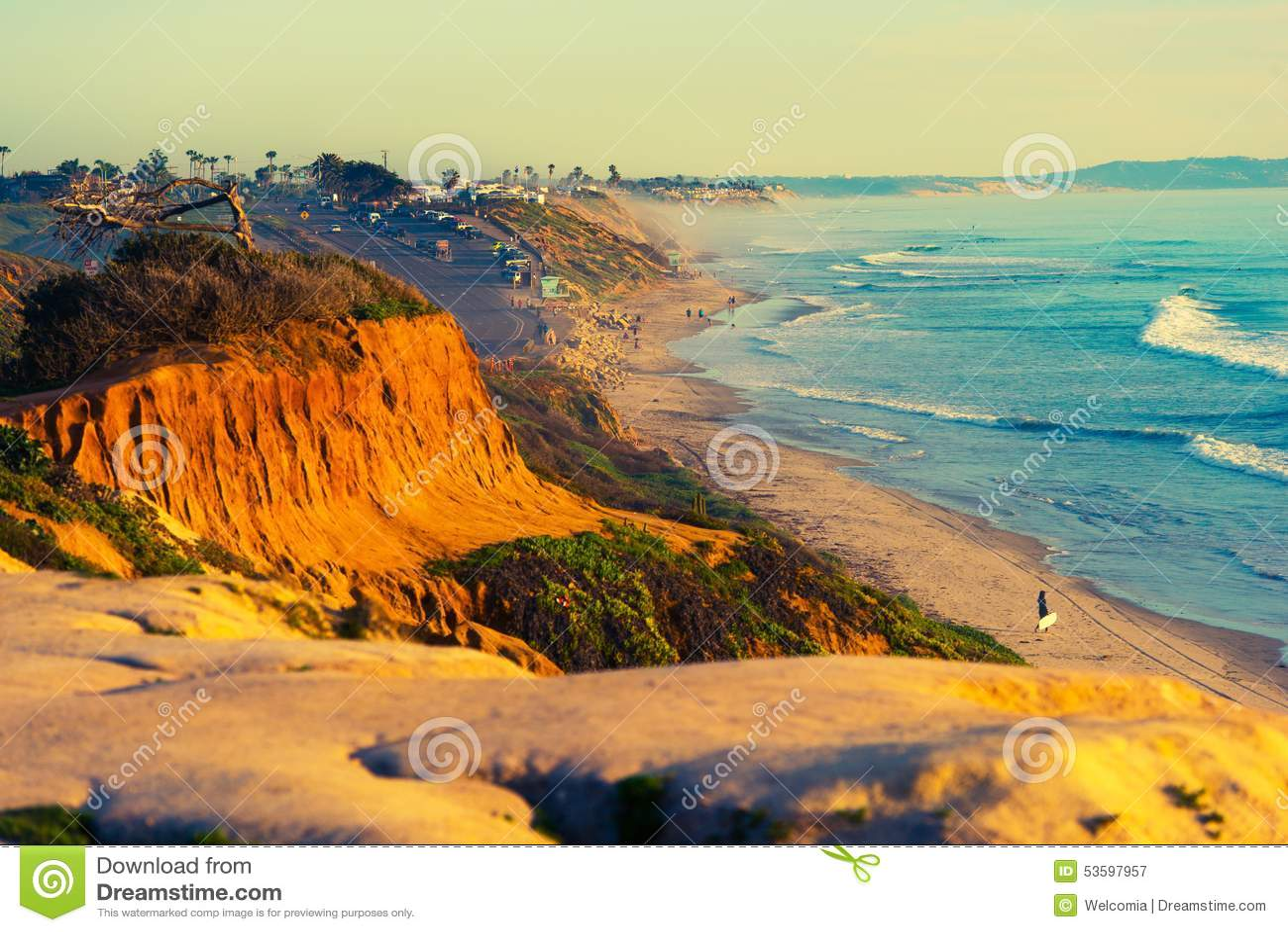 Encinitas海滩在加利福尼亚
