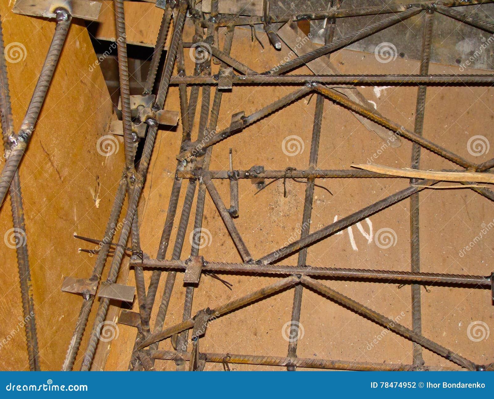 Encofrado para las escaleras foto de archivo imagen de for Encofrado de escaleras de concreto