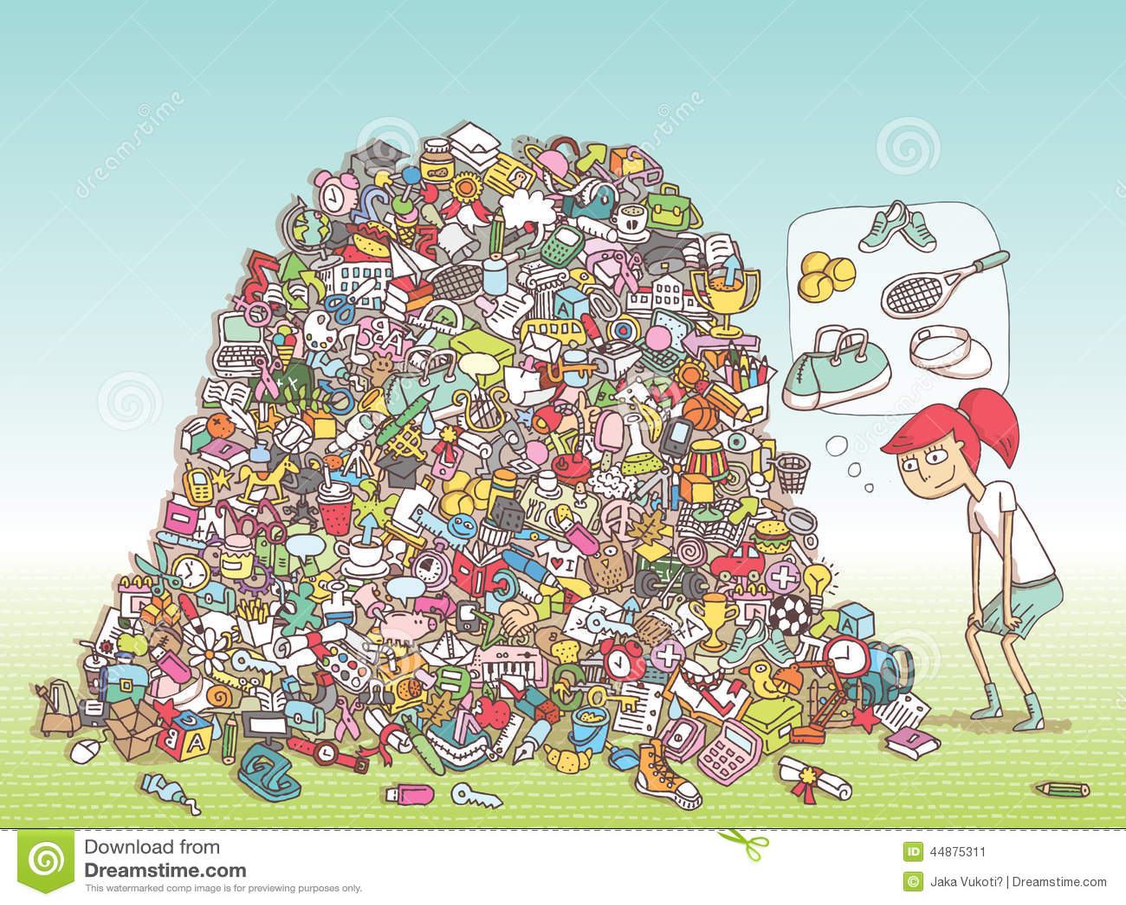 Encontre o jogo do Visual dos objetos Solução na camada escondida!