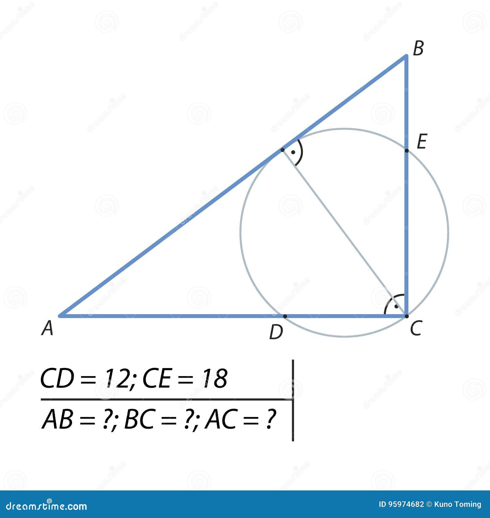 Encontre os pés de um triângulo direito