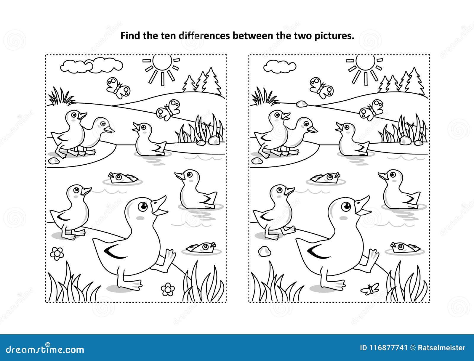 Encontre A Pagina Visual Do Enigma E Da Coloracao Das Diferencas