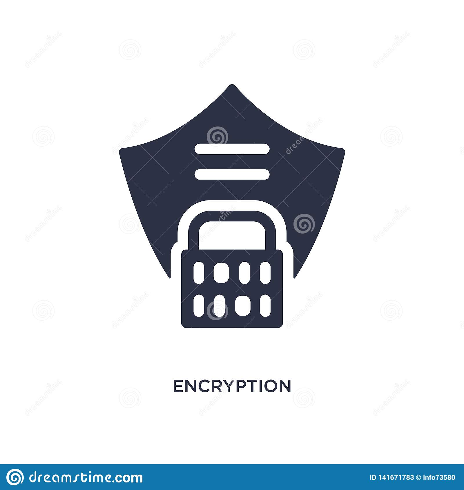 encryption icon on white background. Simple element illustration from gdpr concept